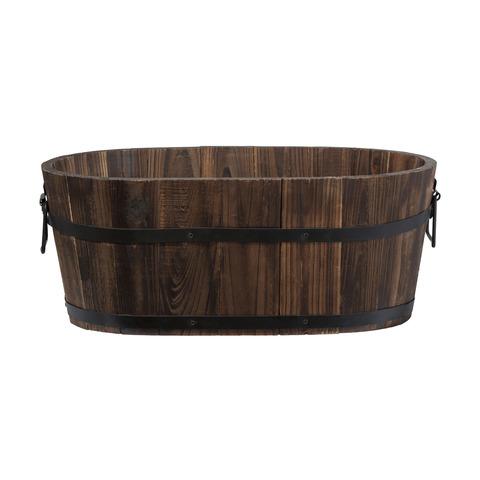 Barrell planter  Price: $8.00  Qty: 2