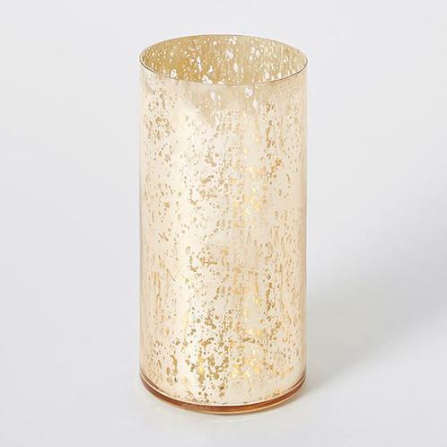 Gold glass hurricane  Price: $5.00  Qty: 15