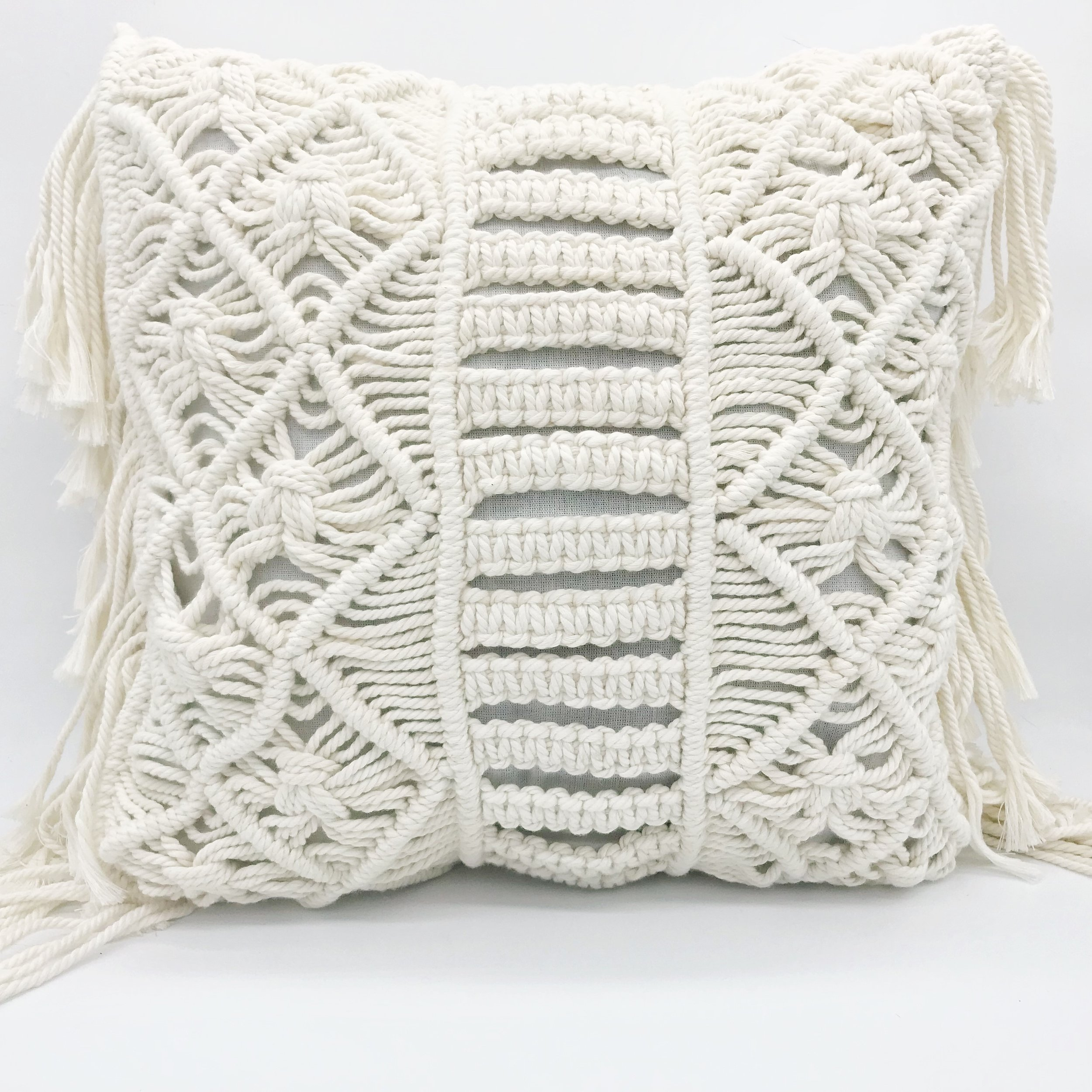 Cushion - macrame  Price: $8.00  Qty: 2