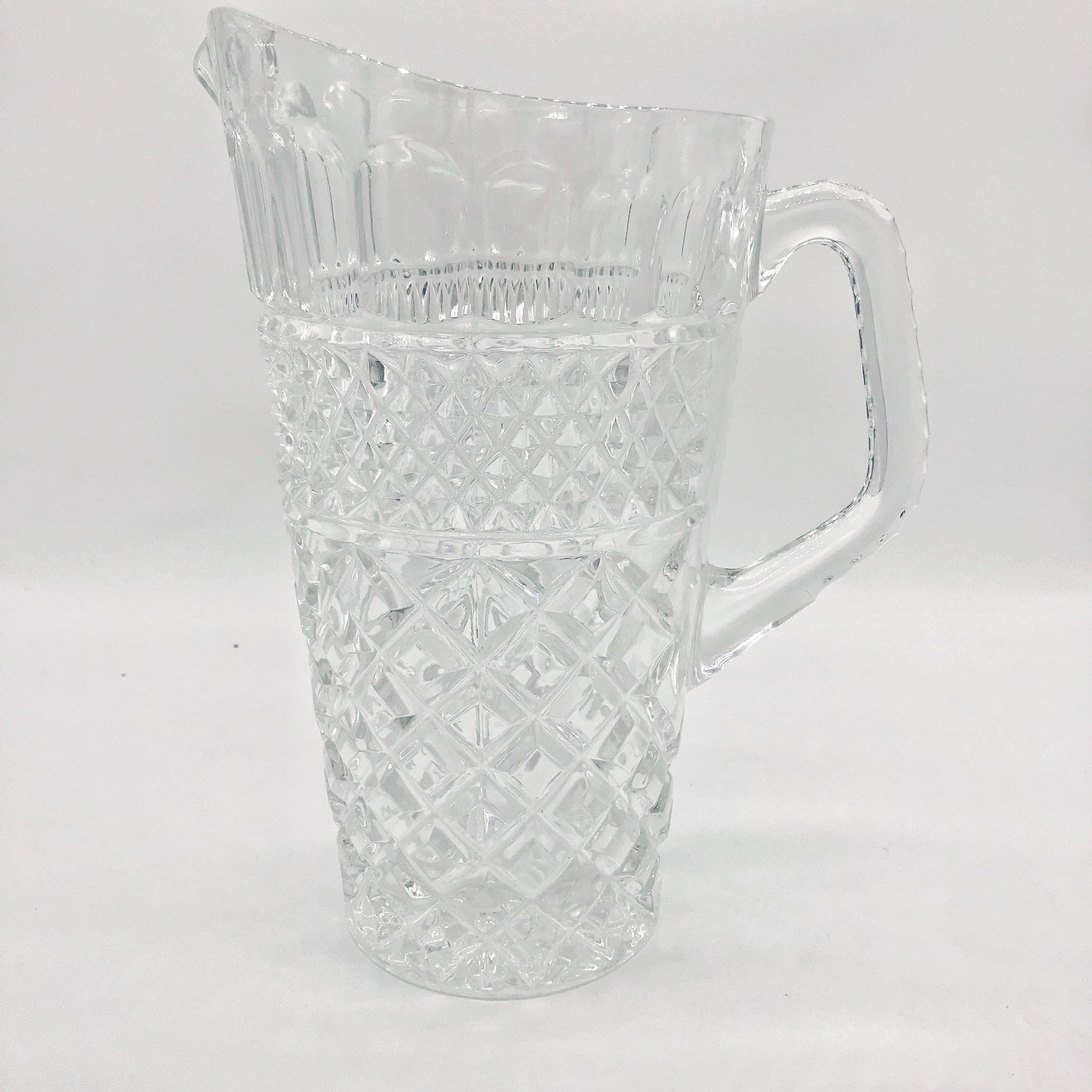 Jug - vintage crystal  Price: $8.00  Qty: 1