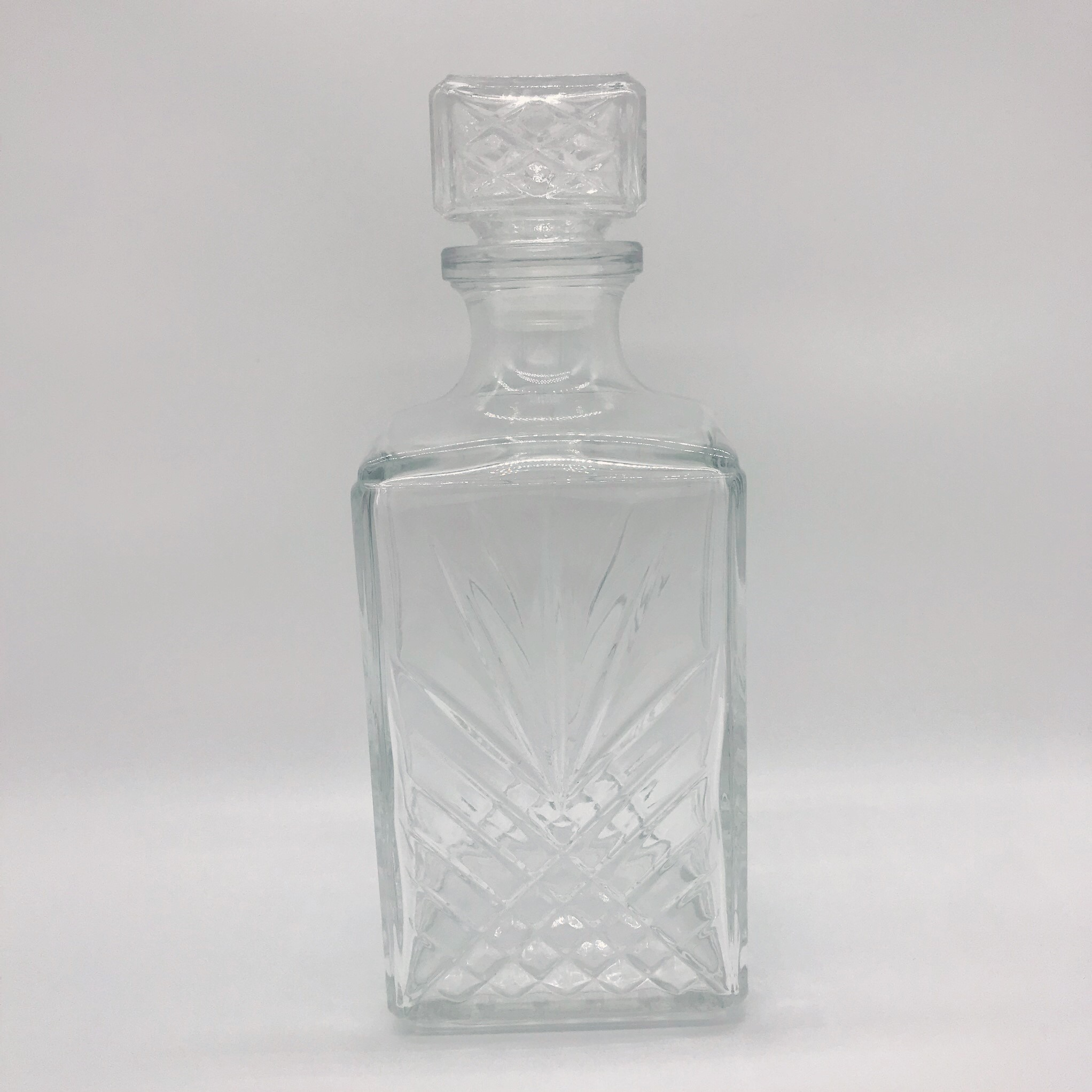 Decanter - vintage crystal square  Price: $10.00  Qty: 1