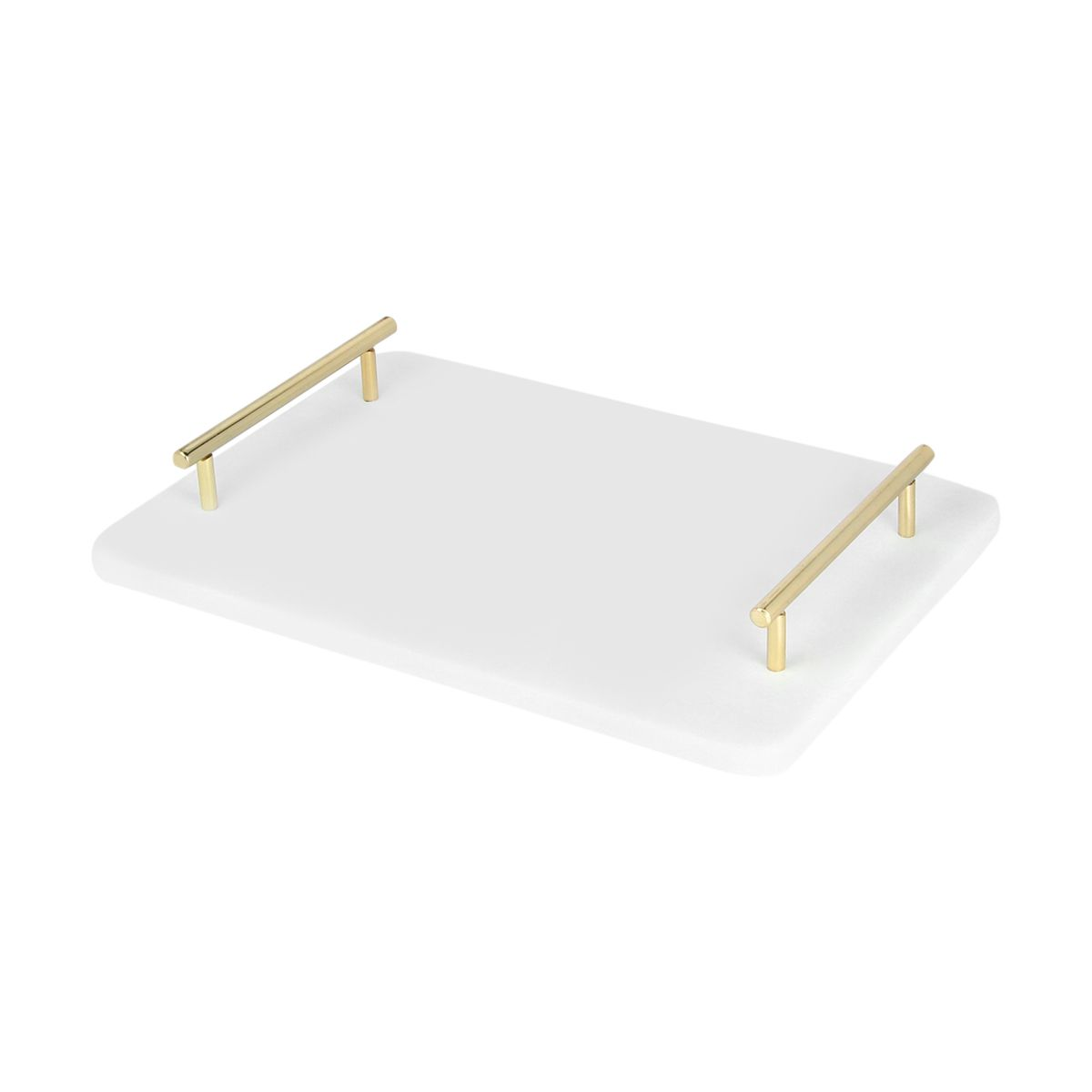 Serving tray - marble and gold  Price: $8.00  Qty: 2