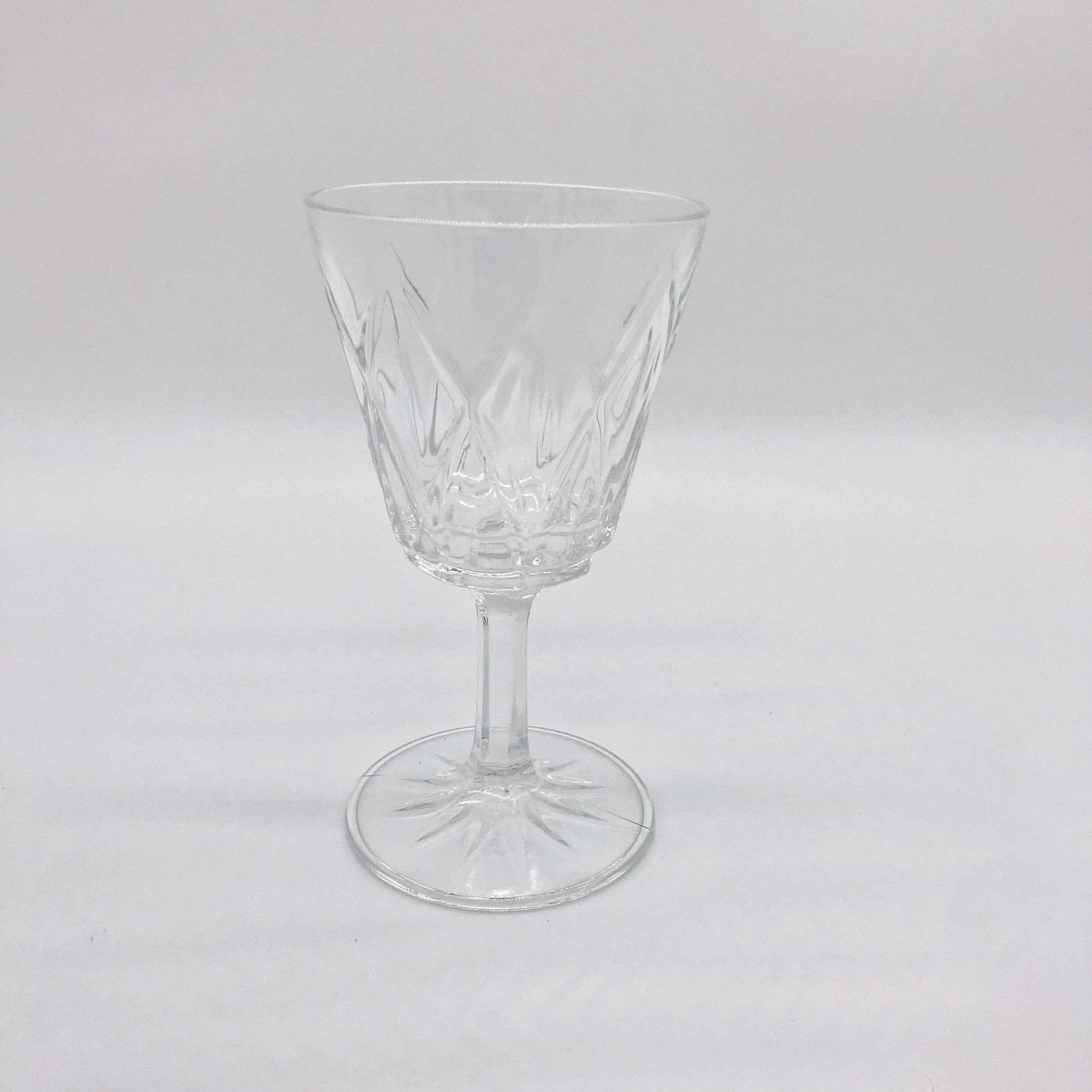 Vintage glass (small)  Price: $2.00  Qty: 6