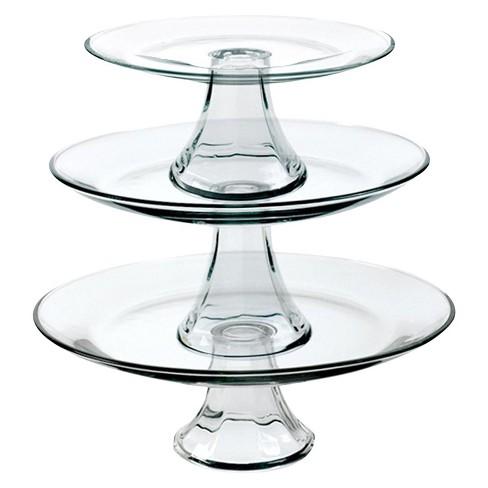 Cake stand set - glass  Price: $15.00  Qty: 1