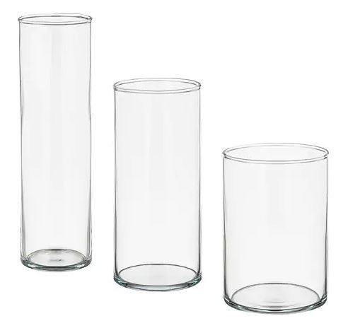 Vases (assorted)  Price: $5.00  Qty: 9
