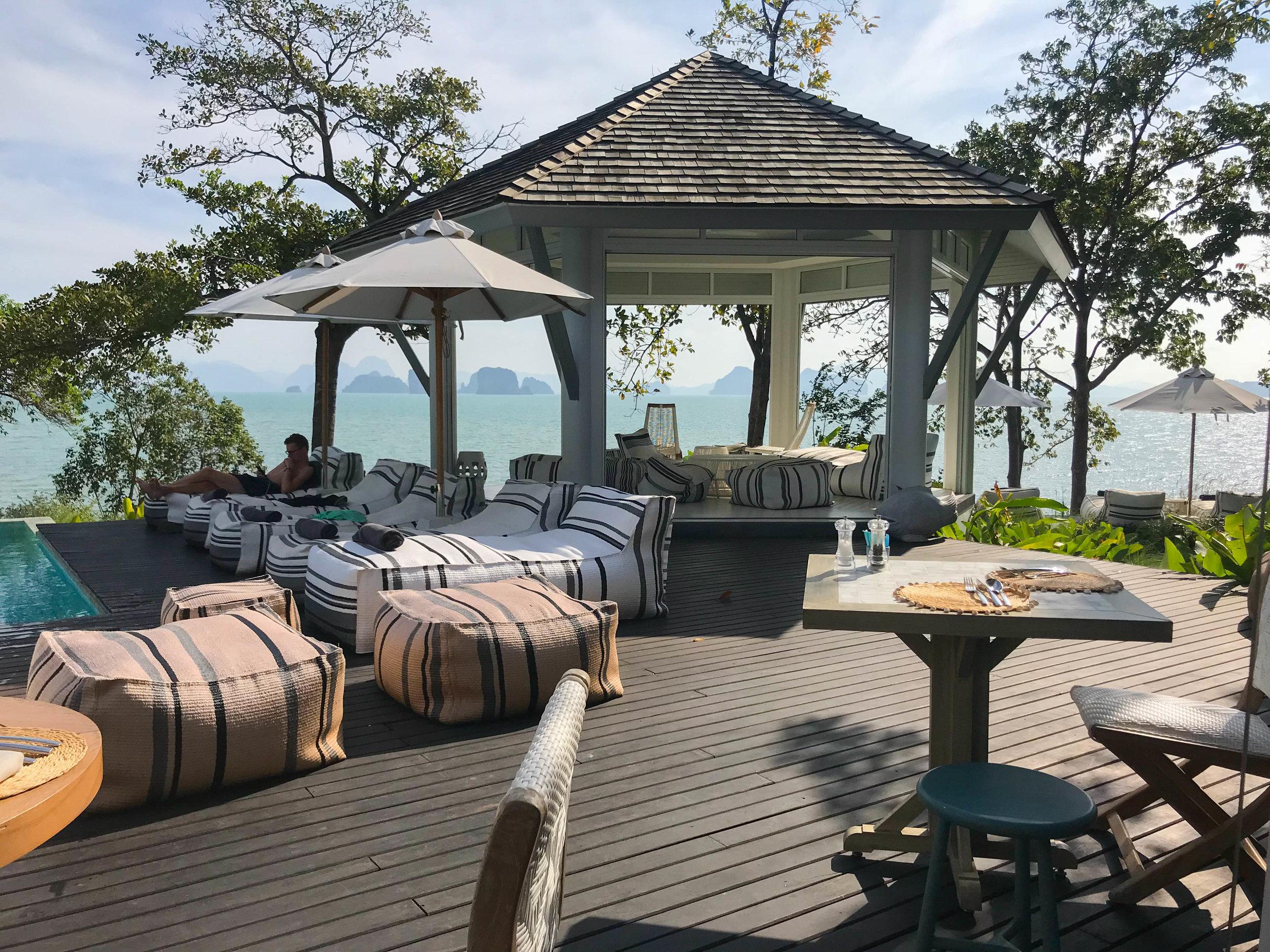 Thailand Cape Kudu Hotel Koh Yao Noi - Breakfast pool views