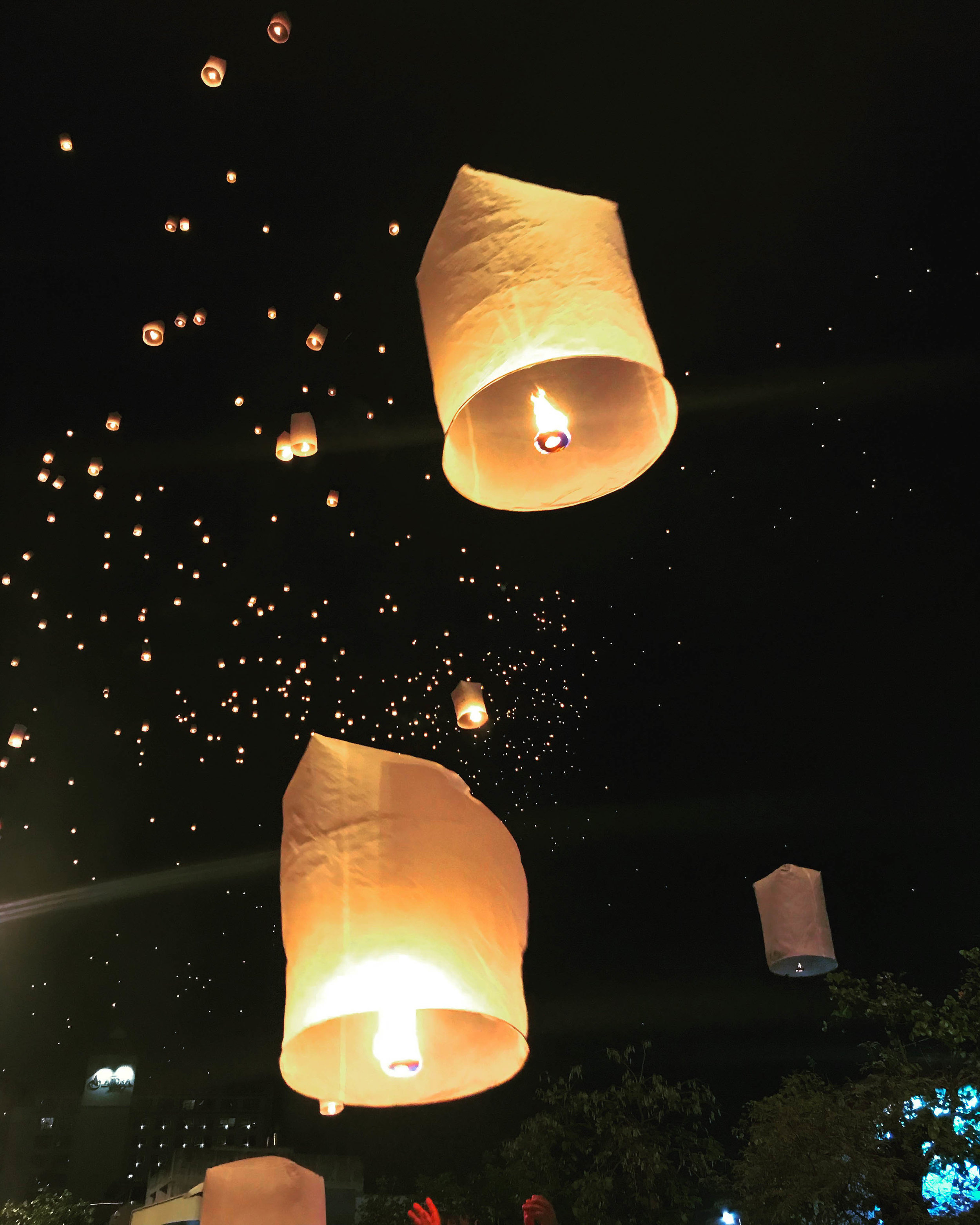 Thailand - Chiang Mai - New Years Eve - lanterns