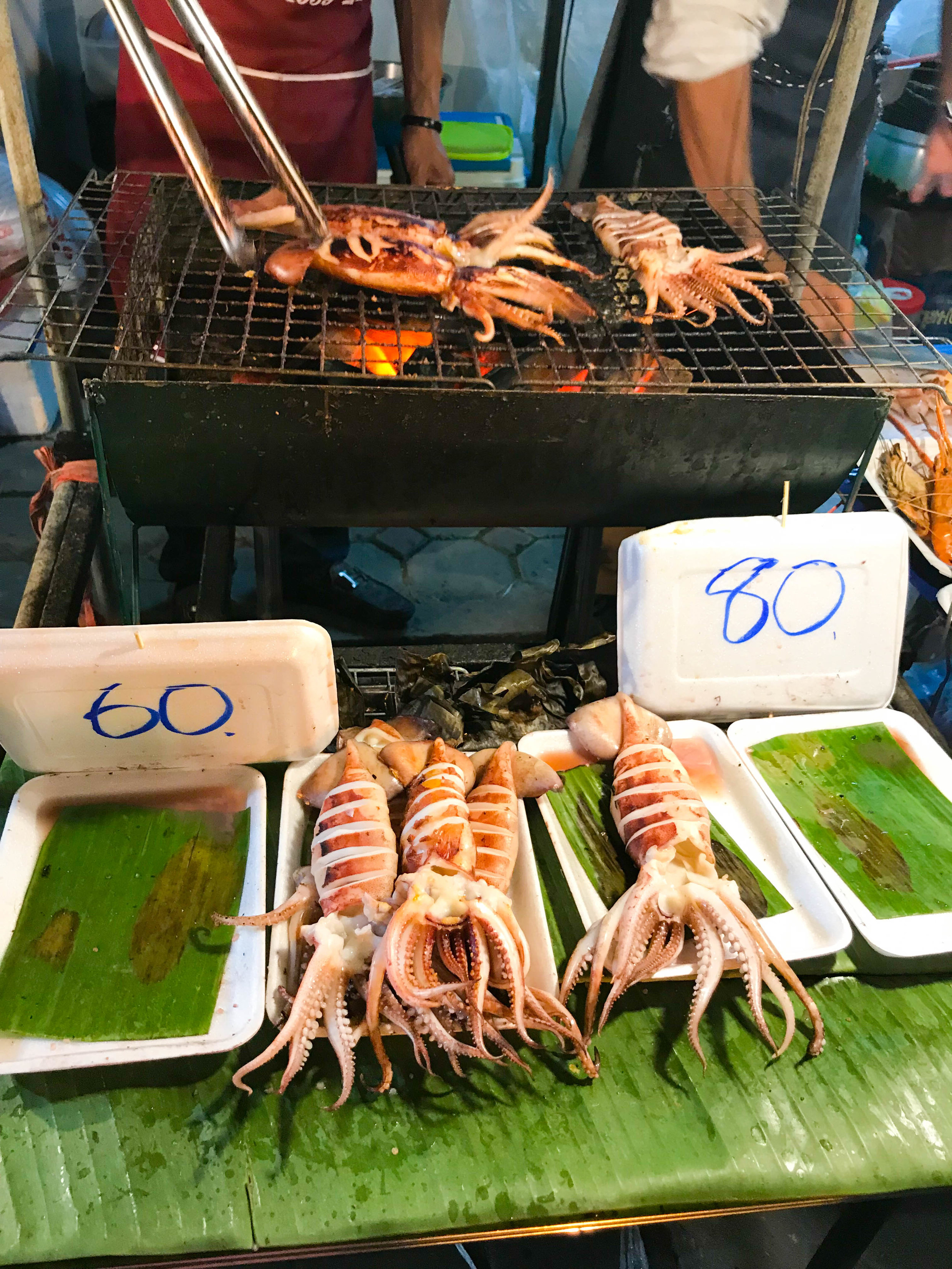 Thailand - Chiang Mai - New Years Eve - Street market food - squid