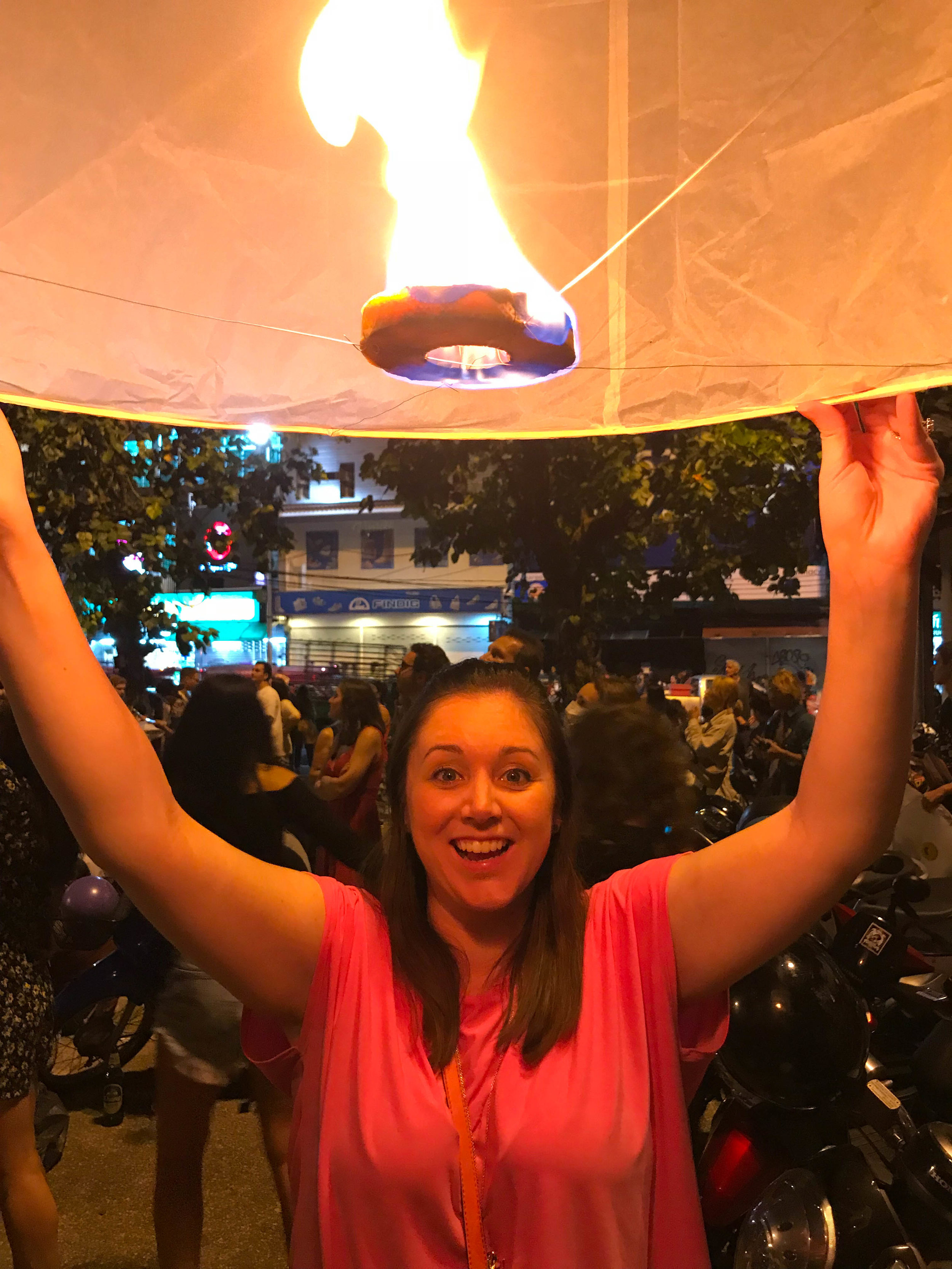 New Years Eve Lanterns in Chiang Mai Thailand