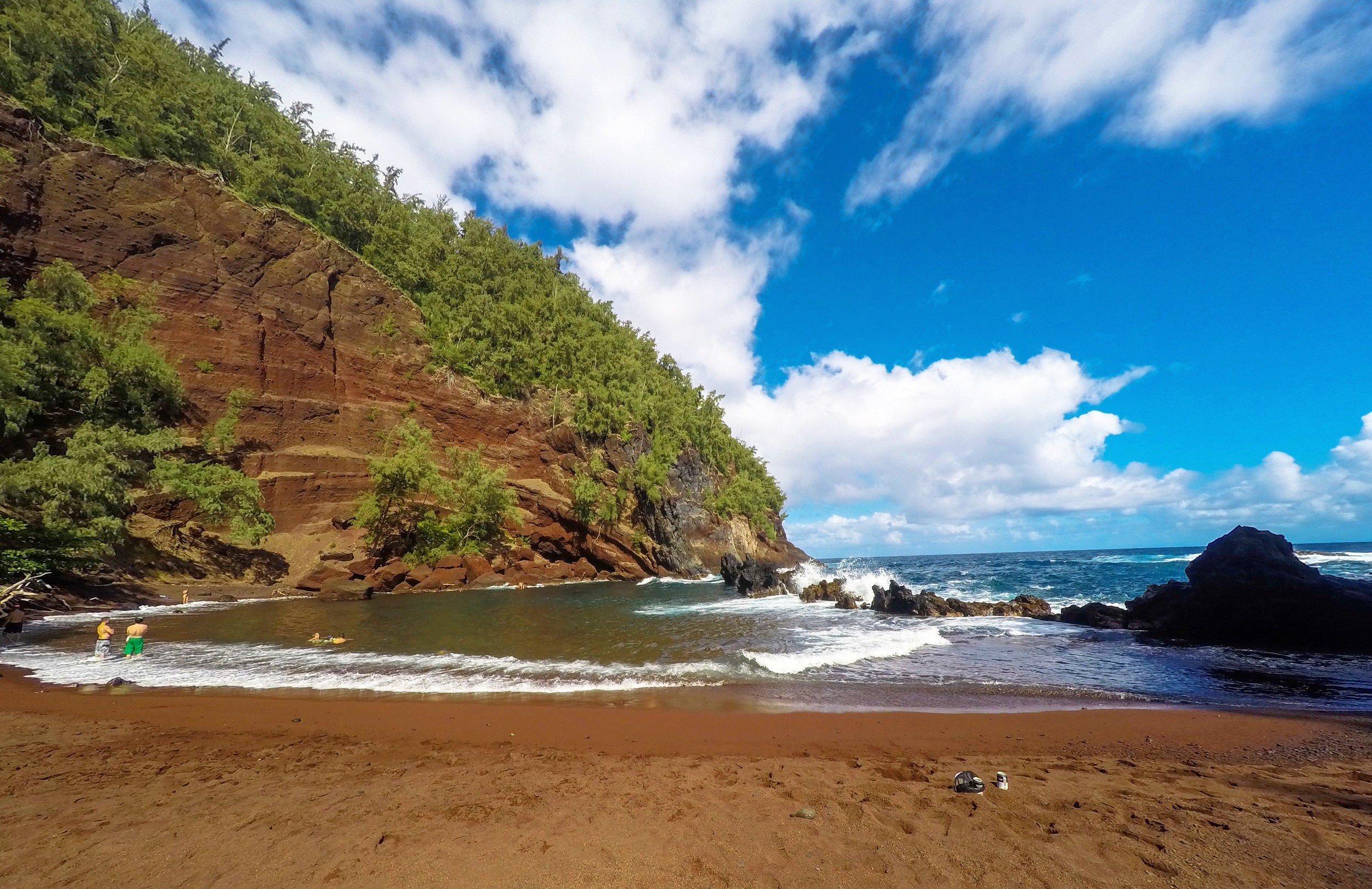 Road to Hana Stops - Red Sand Beach - Things to do in Maui, Hawaii