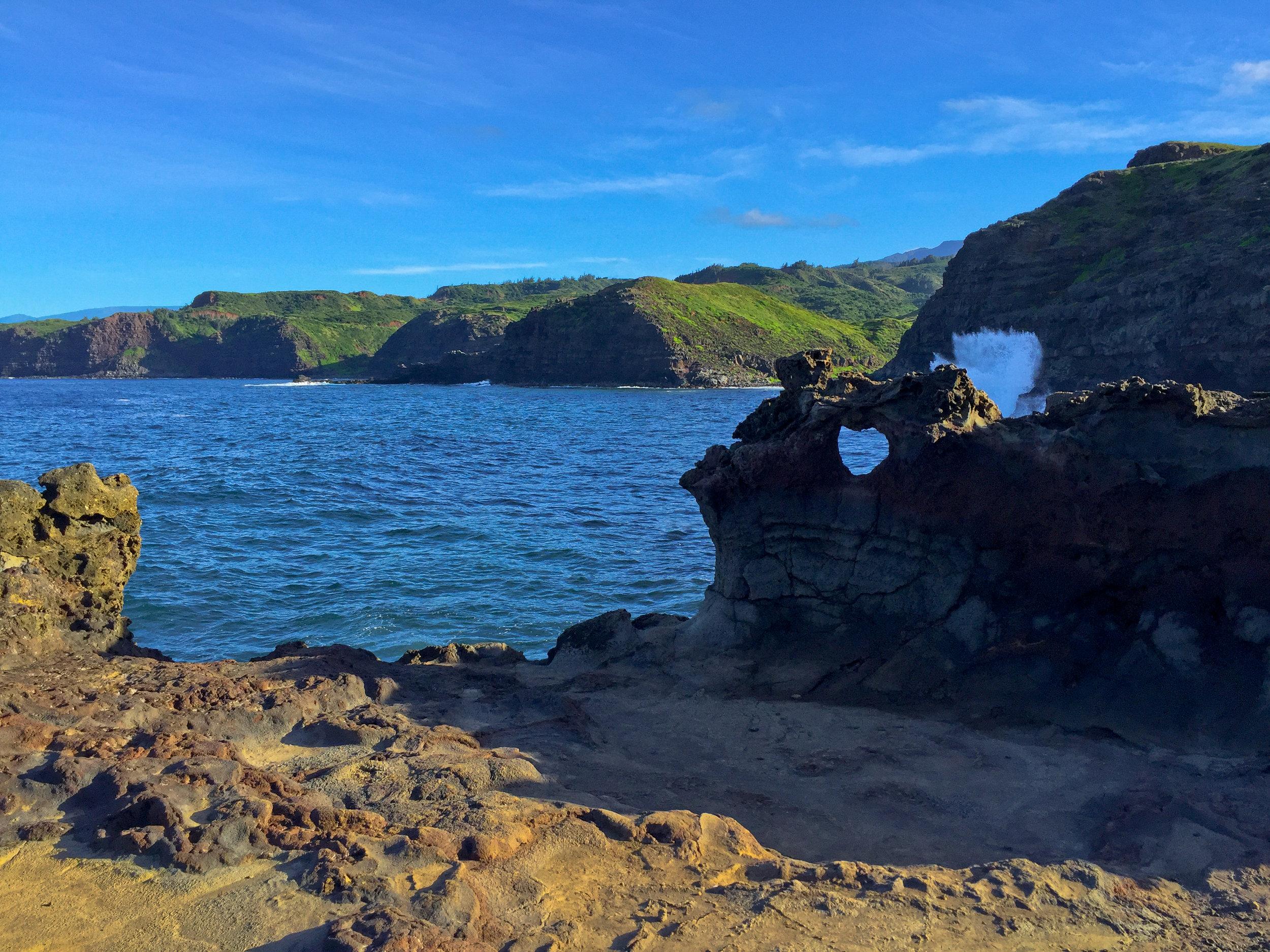 Heart Rock at the Nakalele Blowhole in Maui, Hawaii