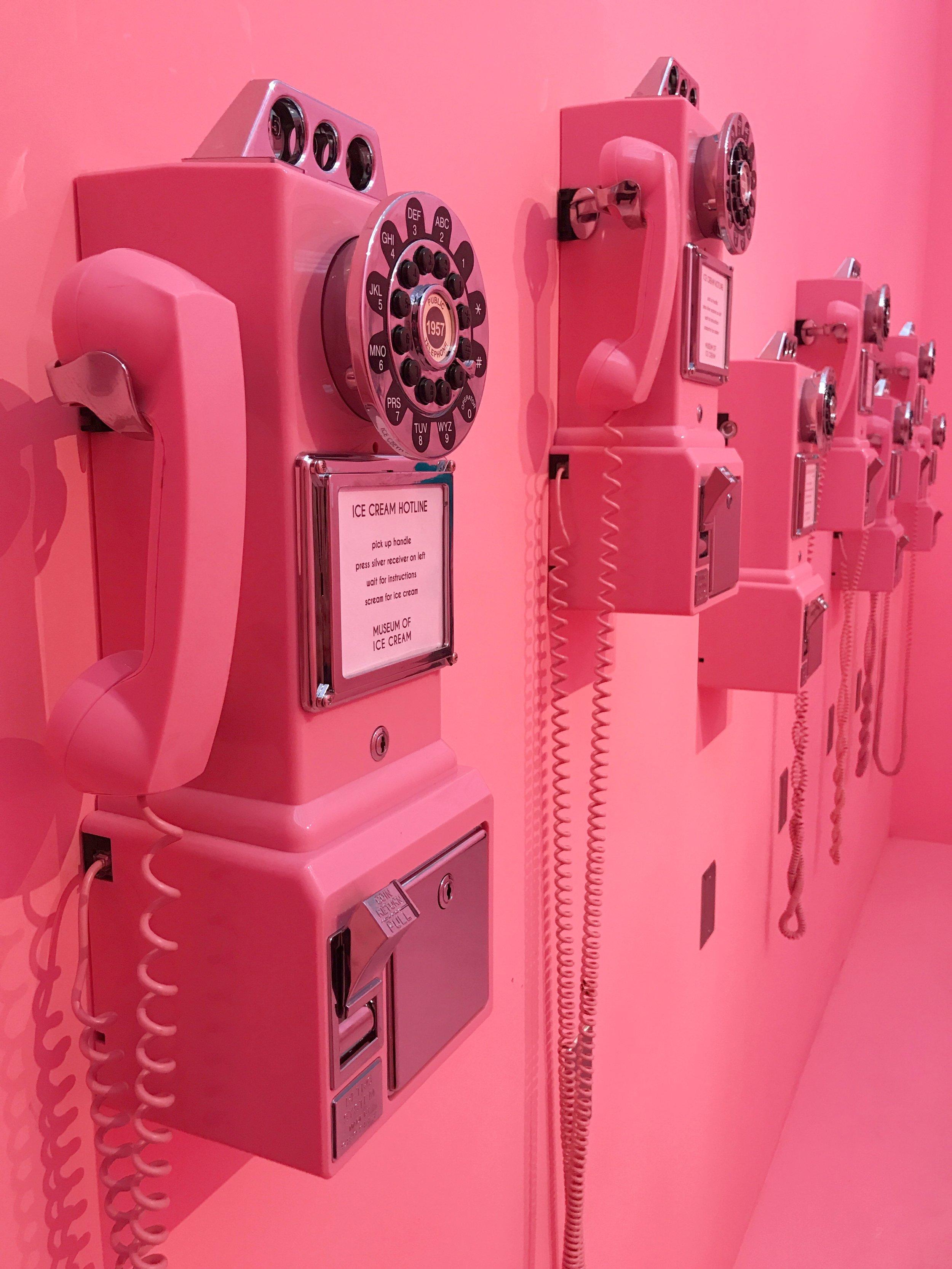 Hot Pink Telephones