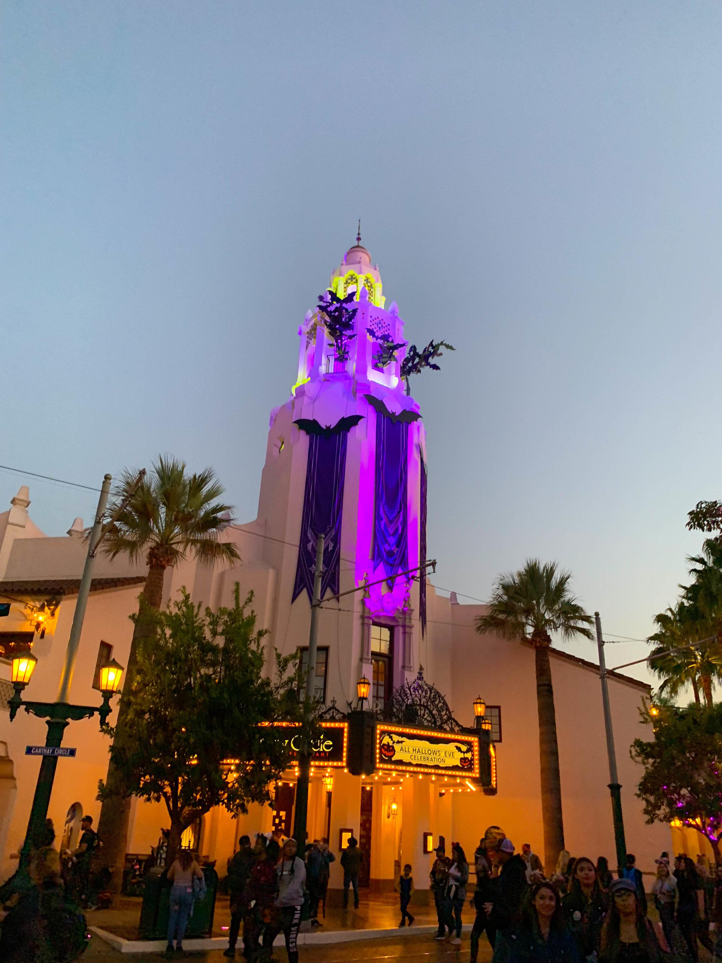Disneyland Halloween Time California Adventure Carthay Circle