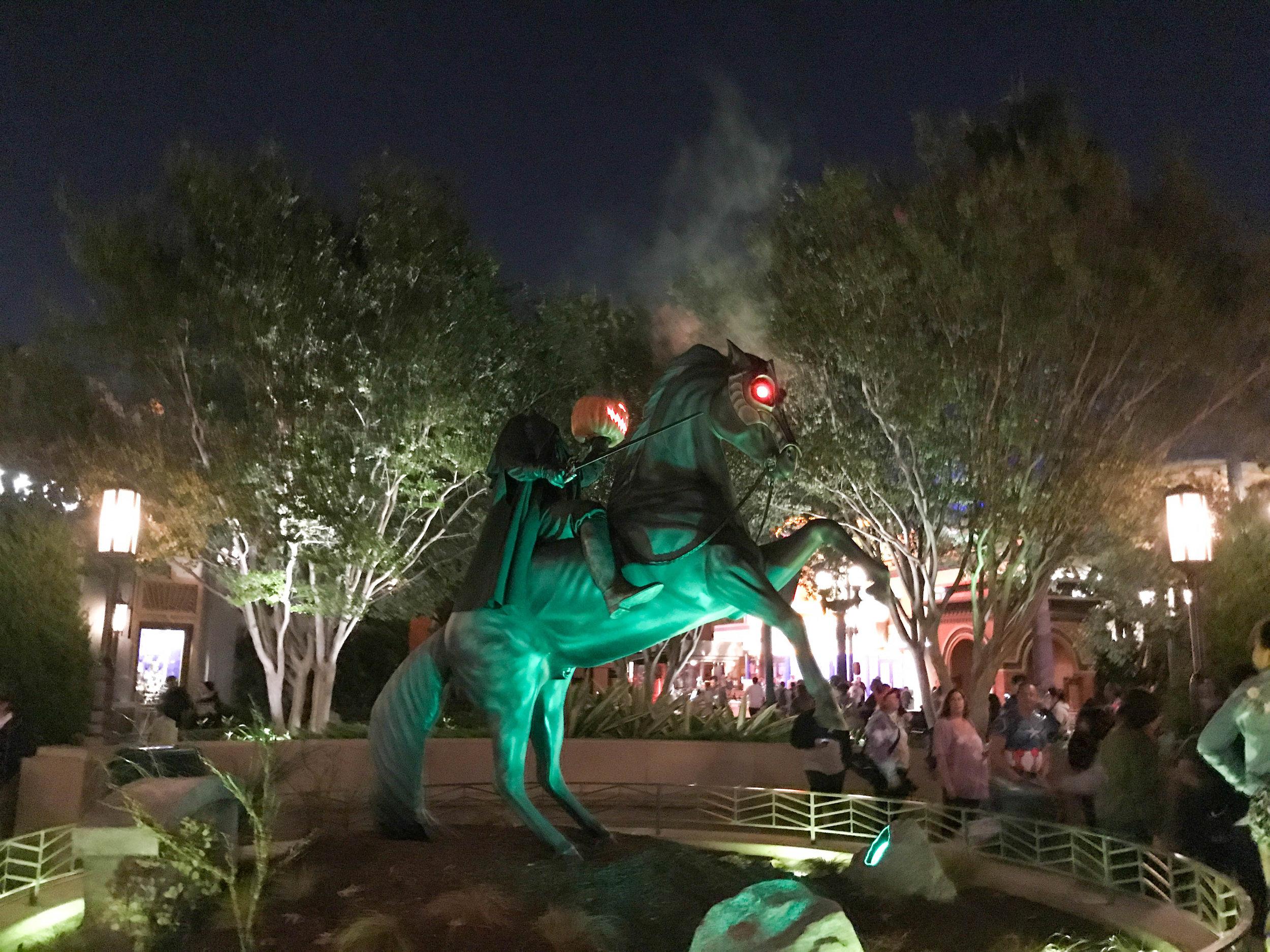 Disneyland Halloween Time California Adventure Headless Horseman
