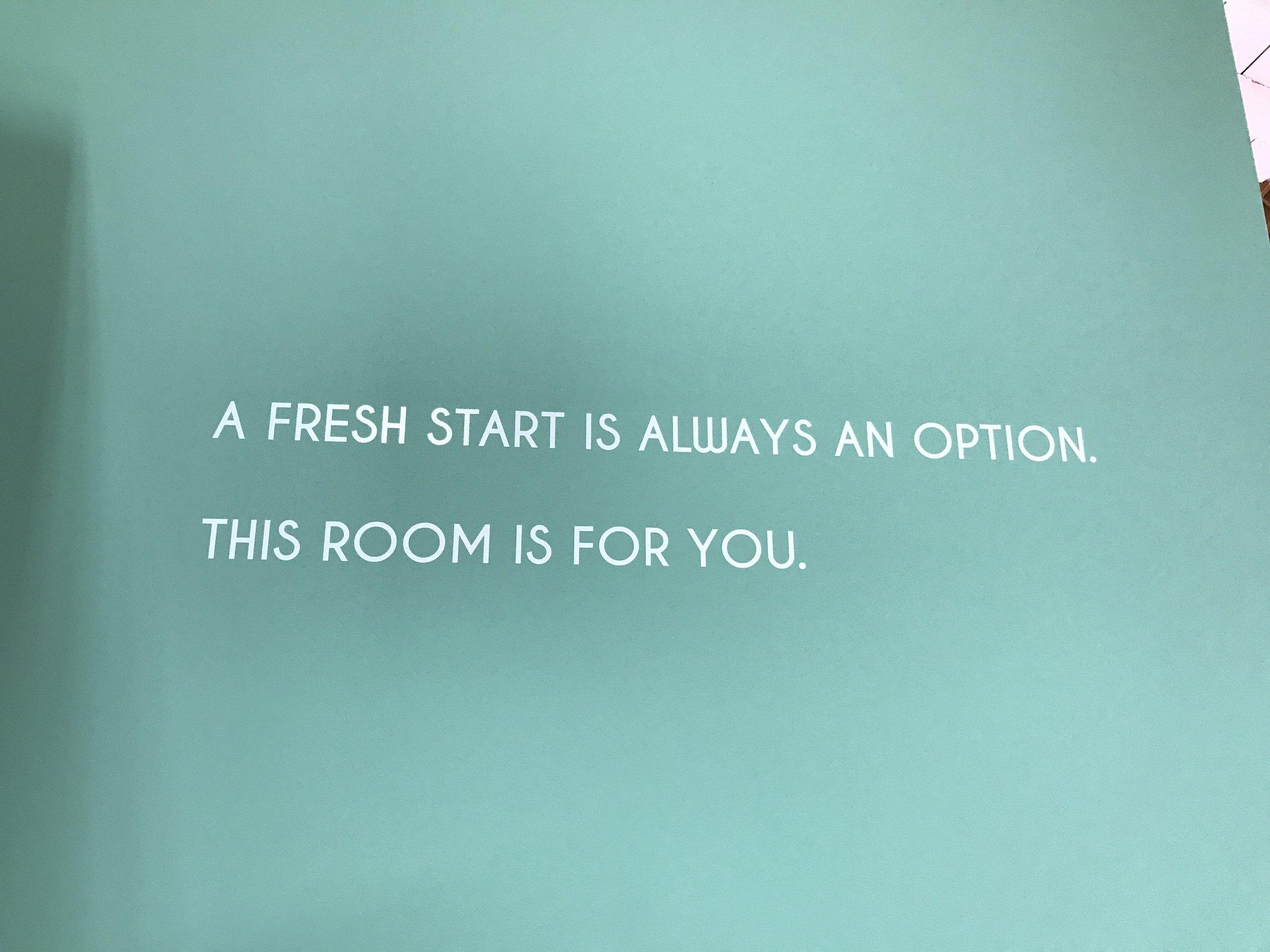 Mint Chip Life - Museum of Ice Cream Room Quote