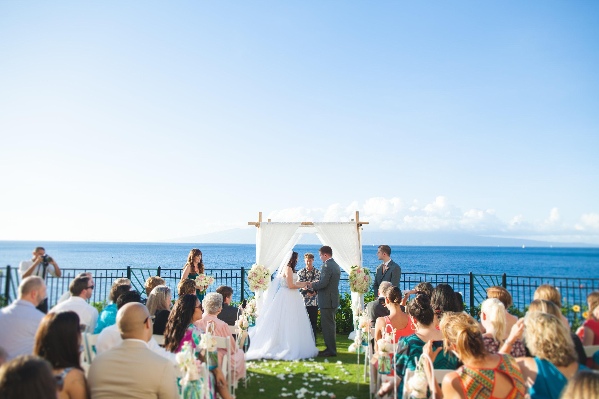 Maui, Hawaii Destination Wedding - Coastal Theme