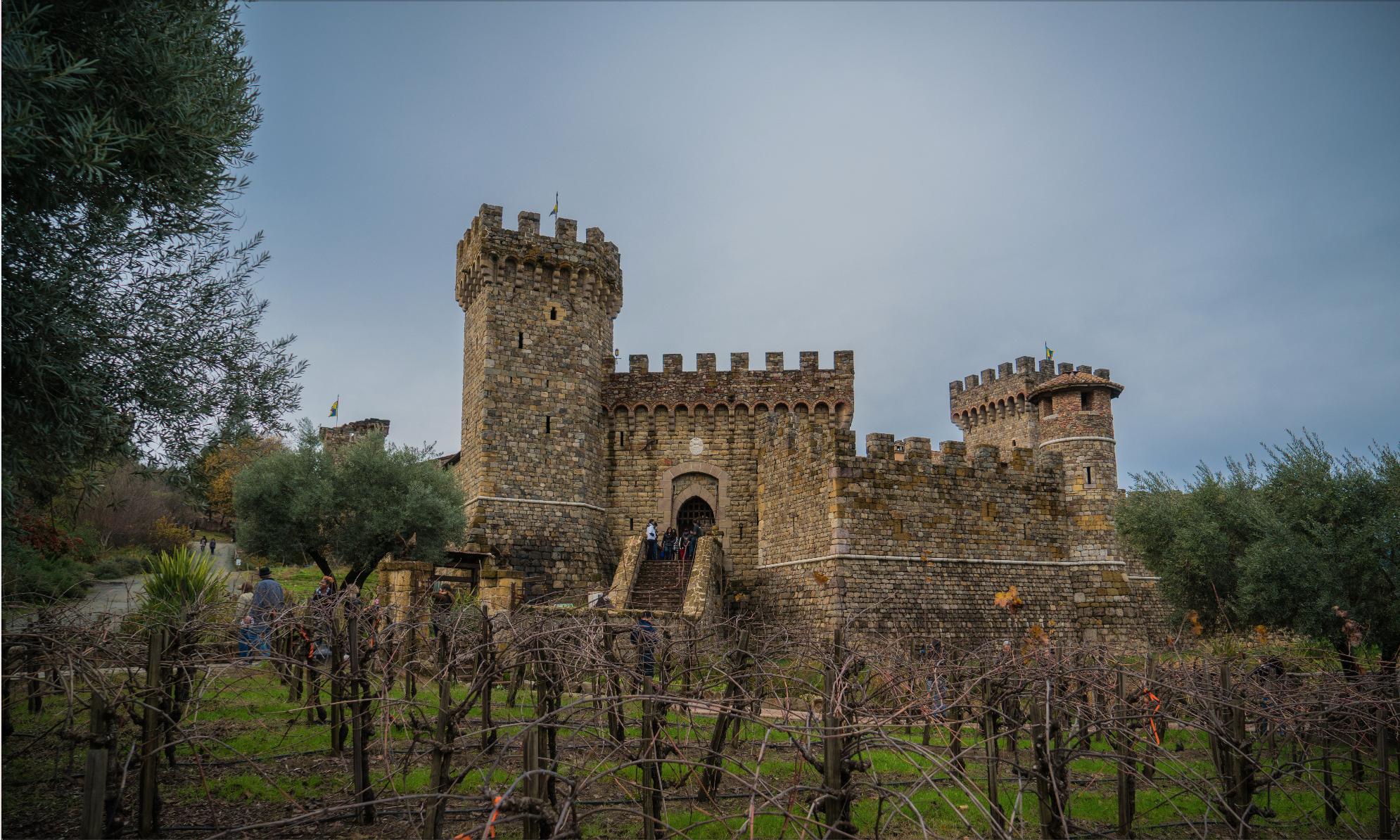 Castello Di Amorosa Vineyard Winery in Napa Valley, CA