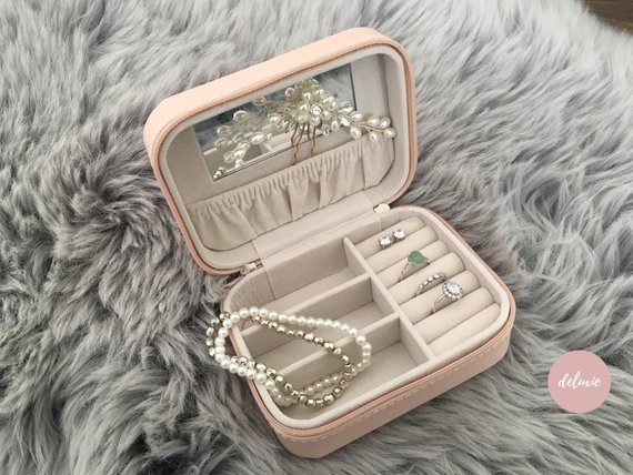 Travel Jewelry Box - Only $22 on EtsyPerfect for organizing all jewelry without getting necklaces and bracelets tangled.