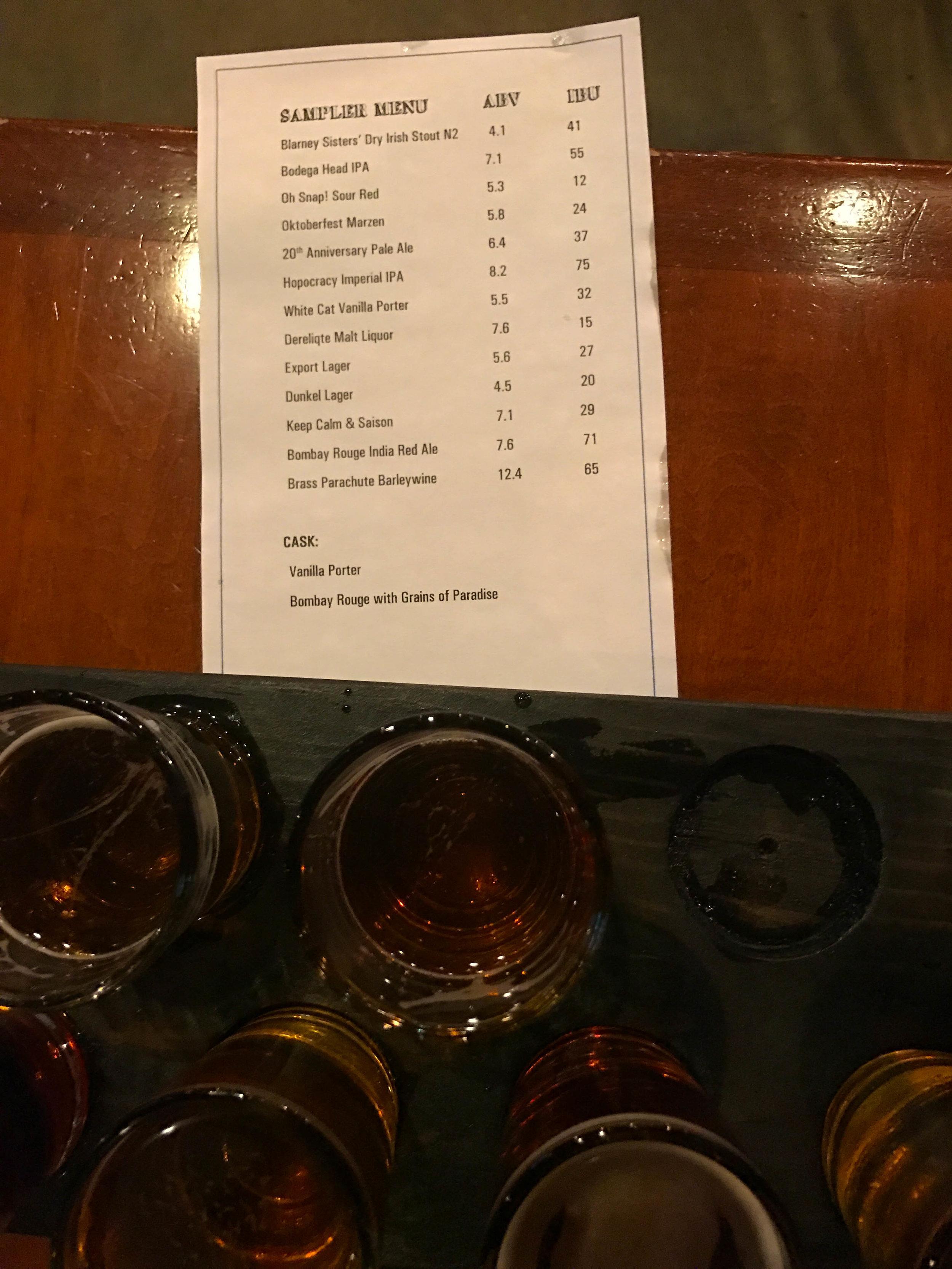 Third Street Ale Works Beer Tasting