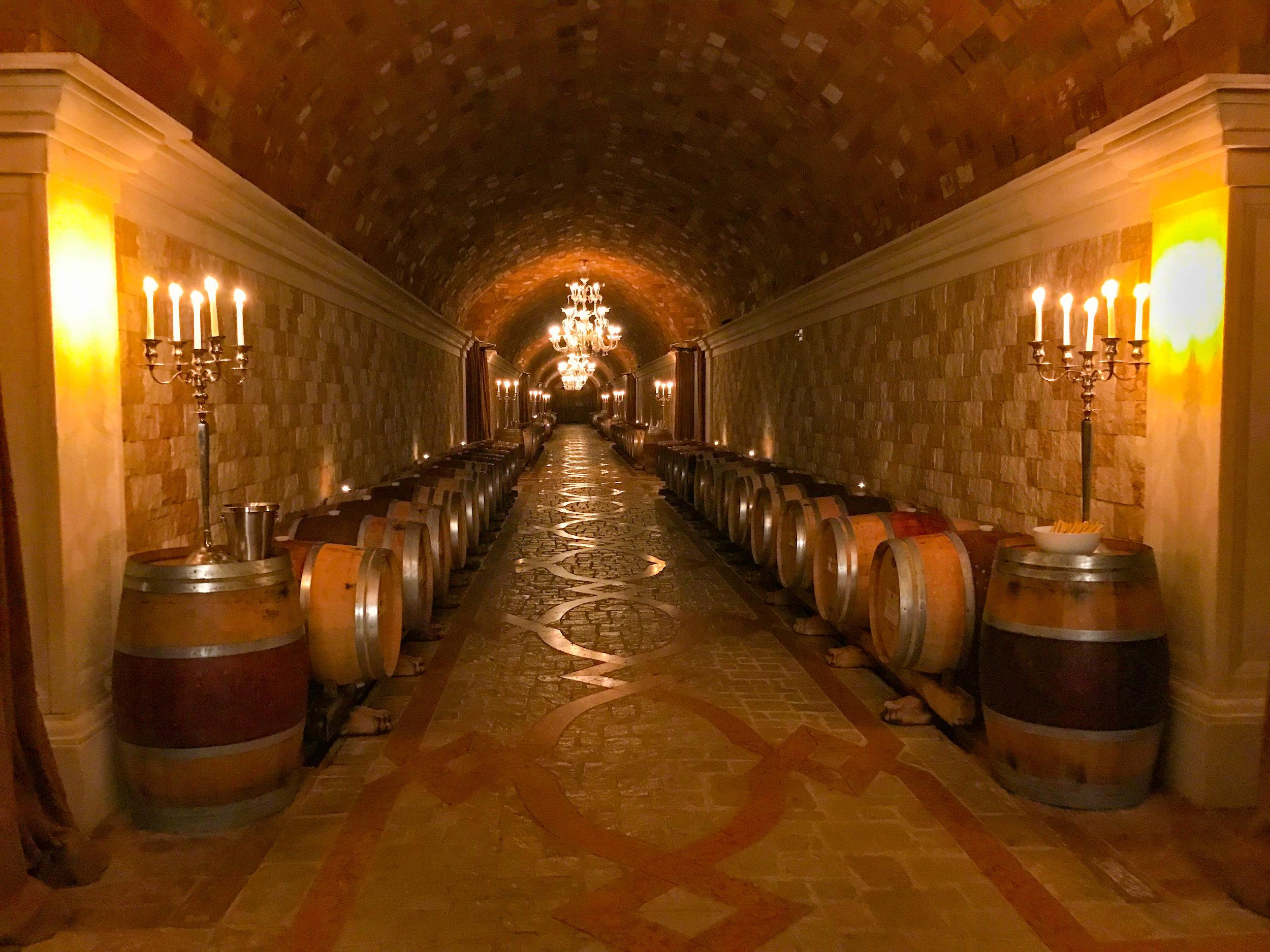 Del Dotto Venetian Estate Winery - cave chandelier
