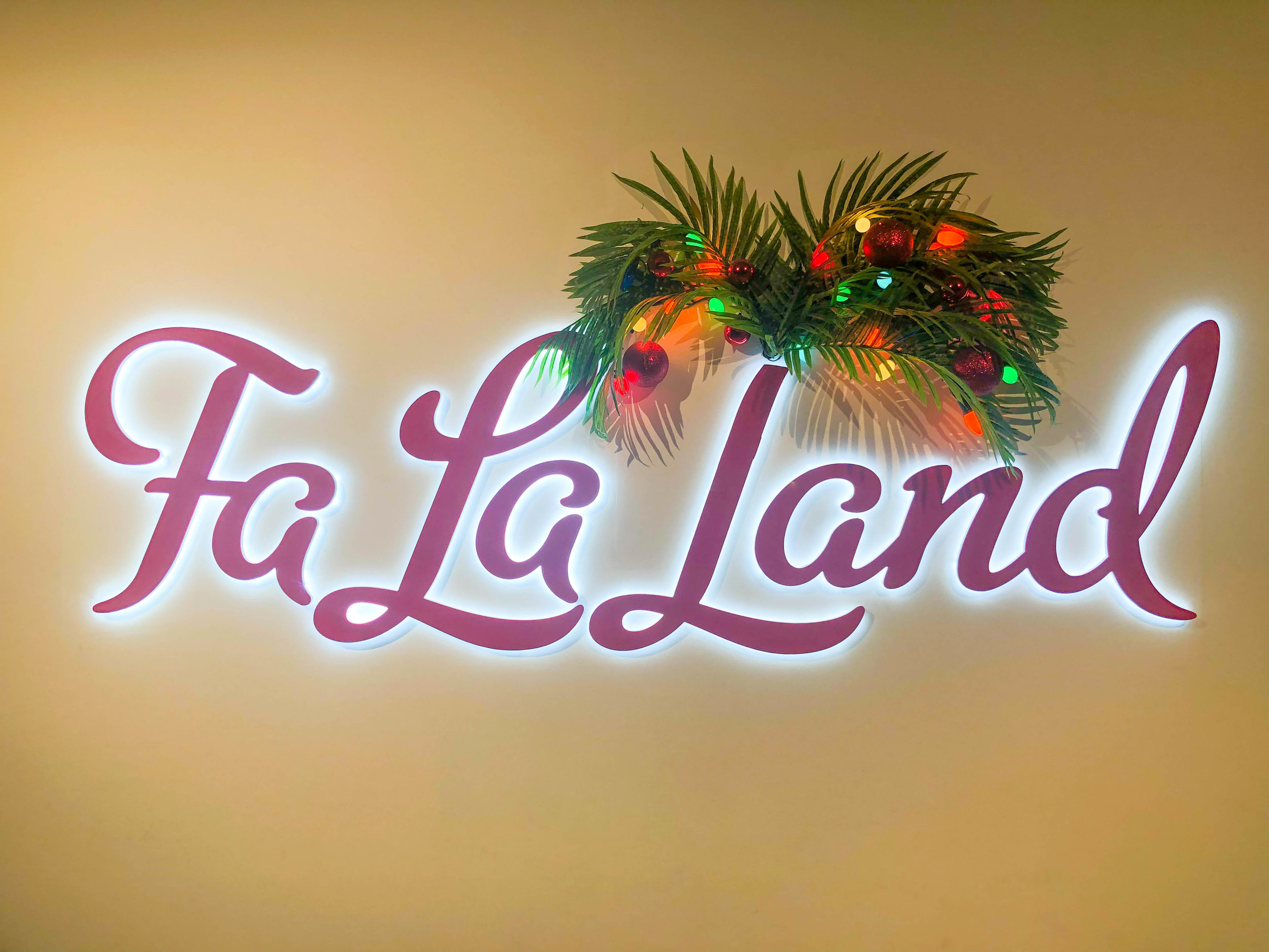 Fa la land - Christmas Pop-up in Downtown LA