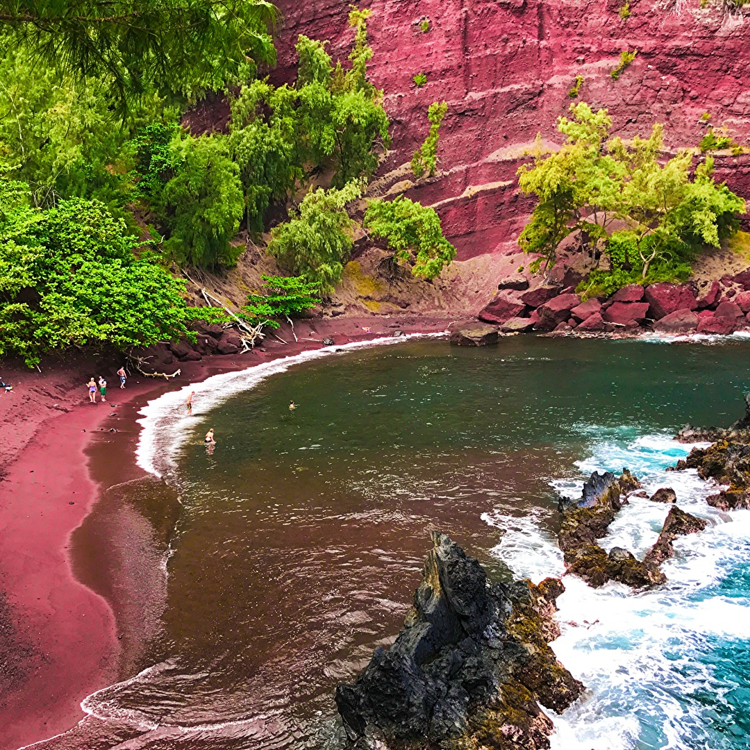 Road to Hana - Maui Hawaii Red Rock