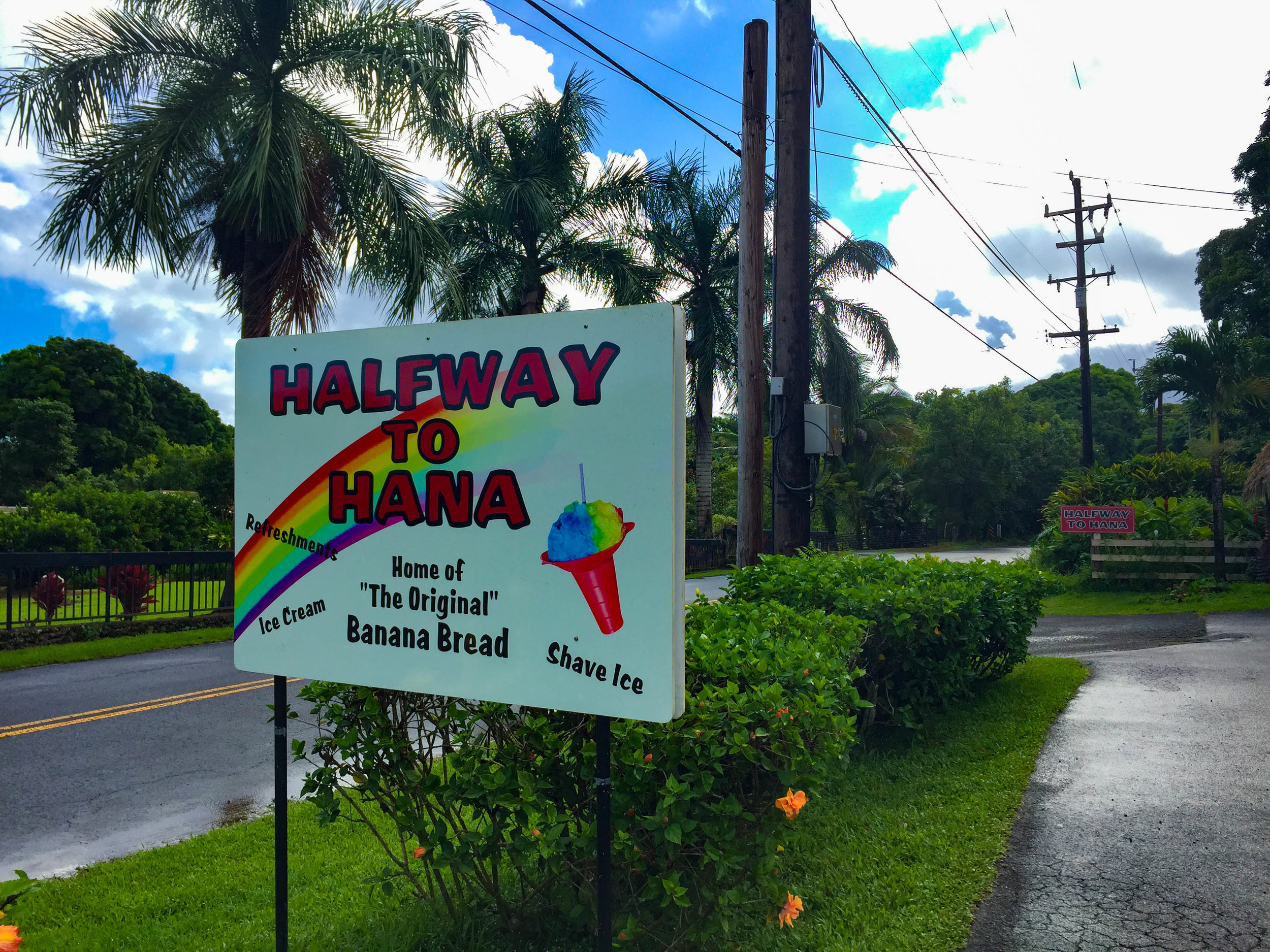 Halfway to Hana - Banana Bread and coffee stand