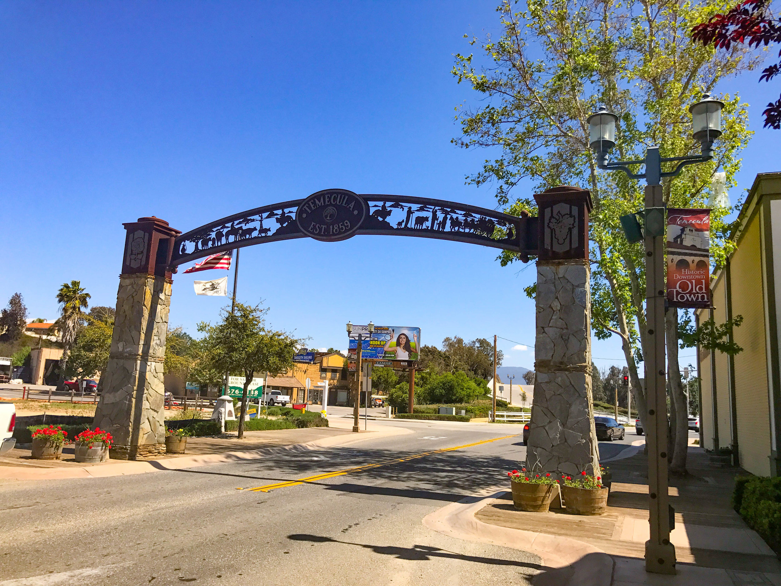 ENTRANCE TO OLD TOWN TEMECULA
