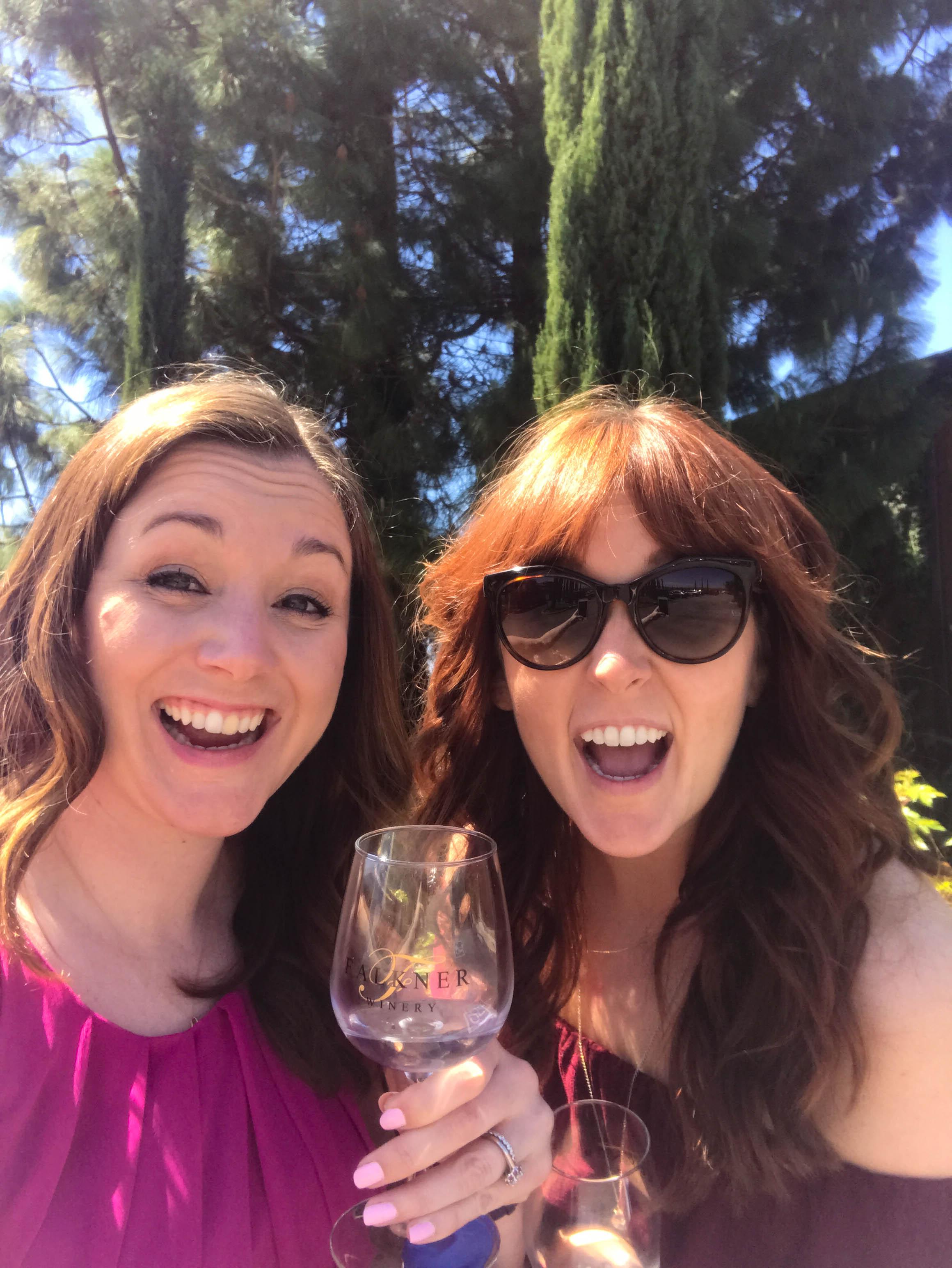 Temecula Wine Tasting Weekend Itinerary - Falkner Wine glasses