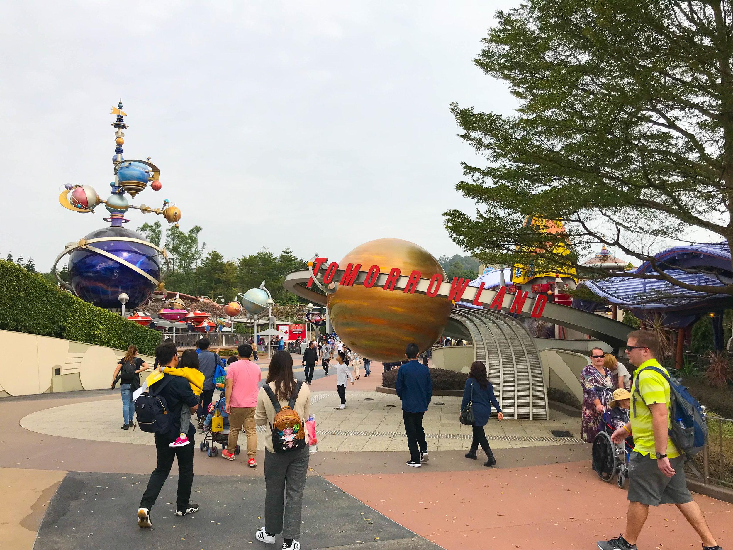 Tomorrowland Entrance - Hong Kong Disneyland