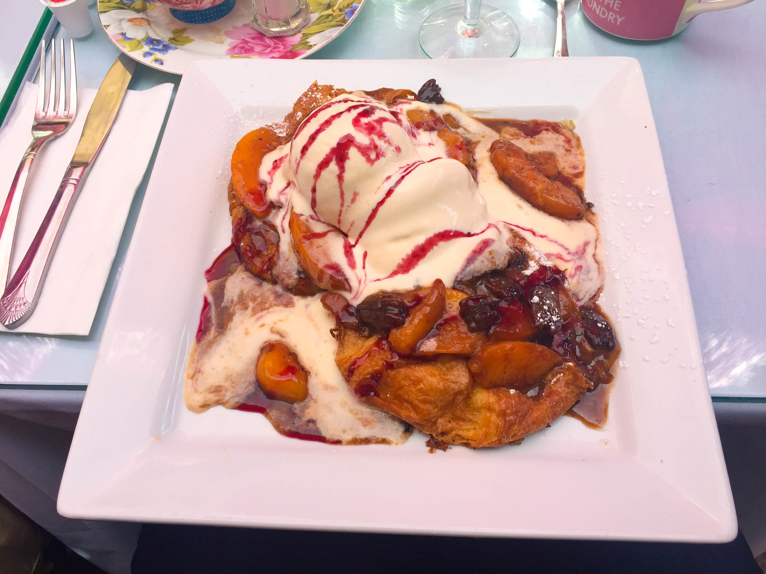 26 Beach Ice Cream French Toast Peach Melba