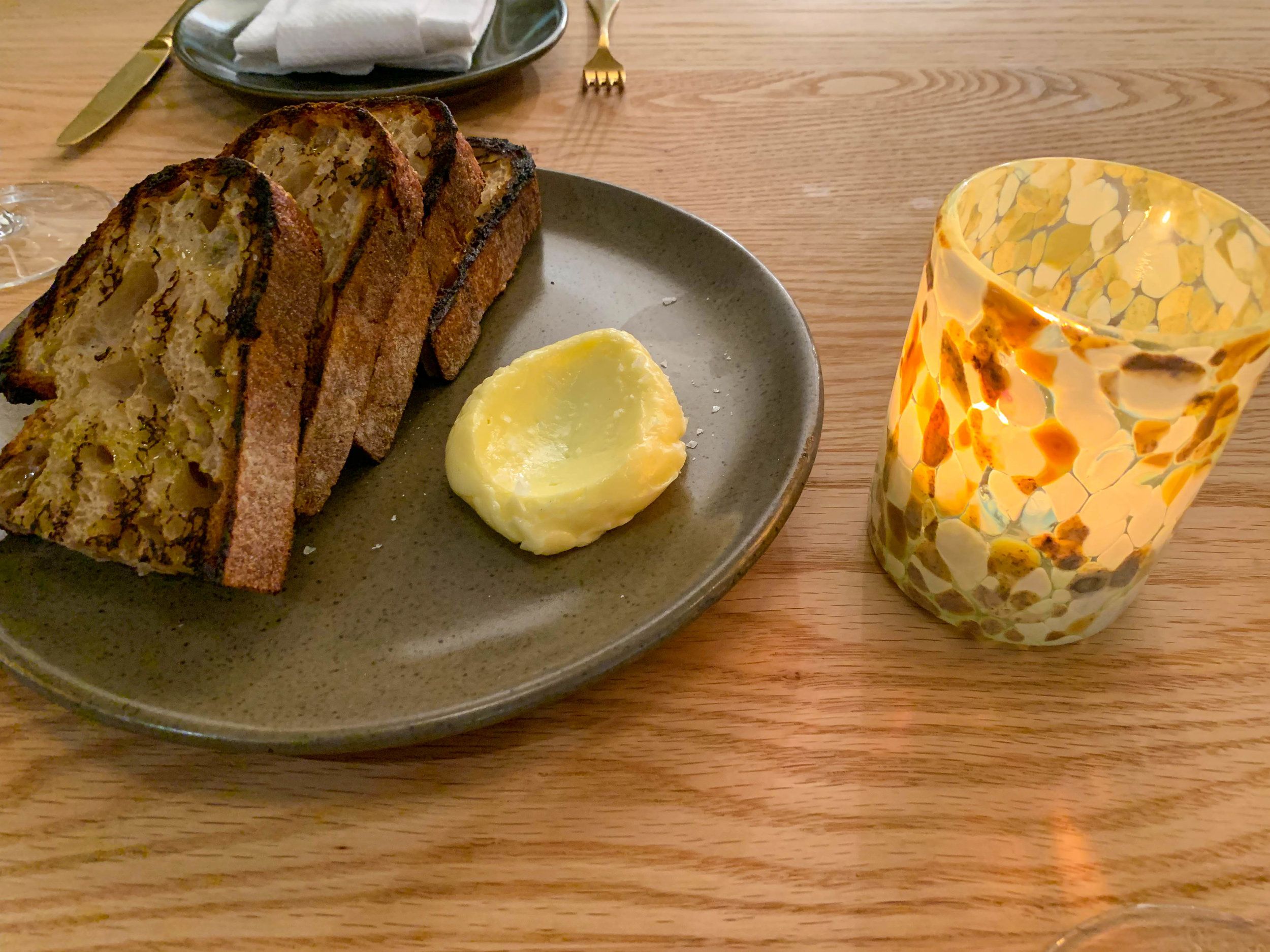 Grilled Country Bread and Cultured Butter
