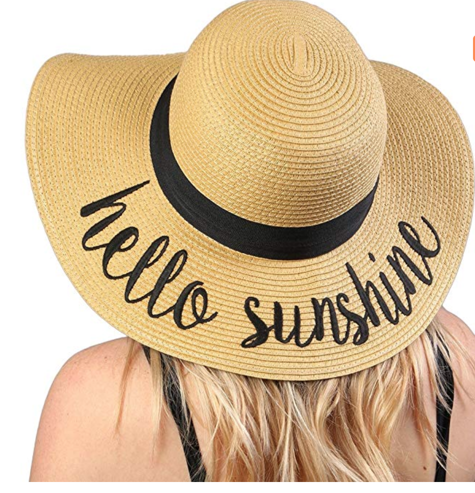 Hello Sunshine floppy hat - on Amazon.com