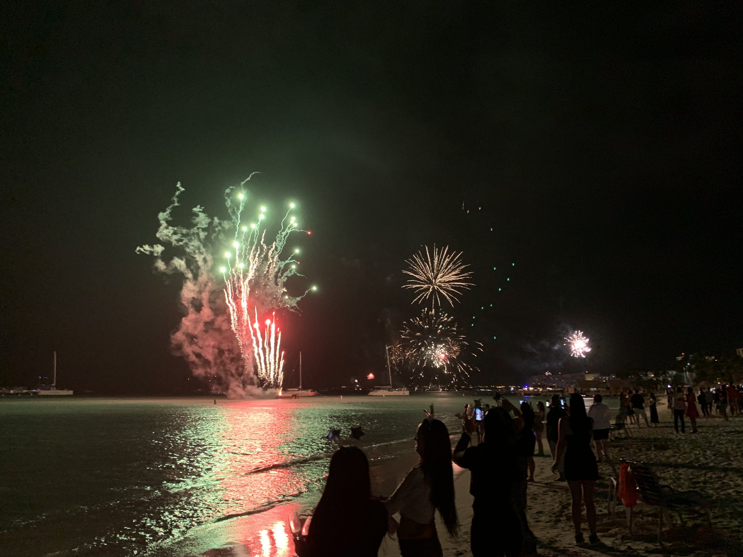 New Years Fireworks in Aruba