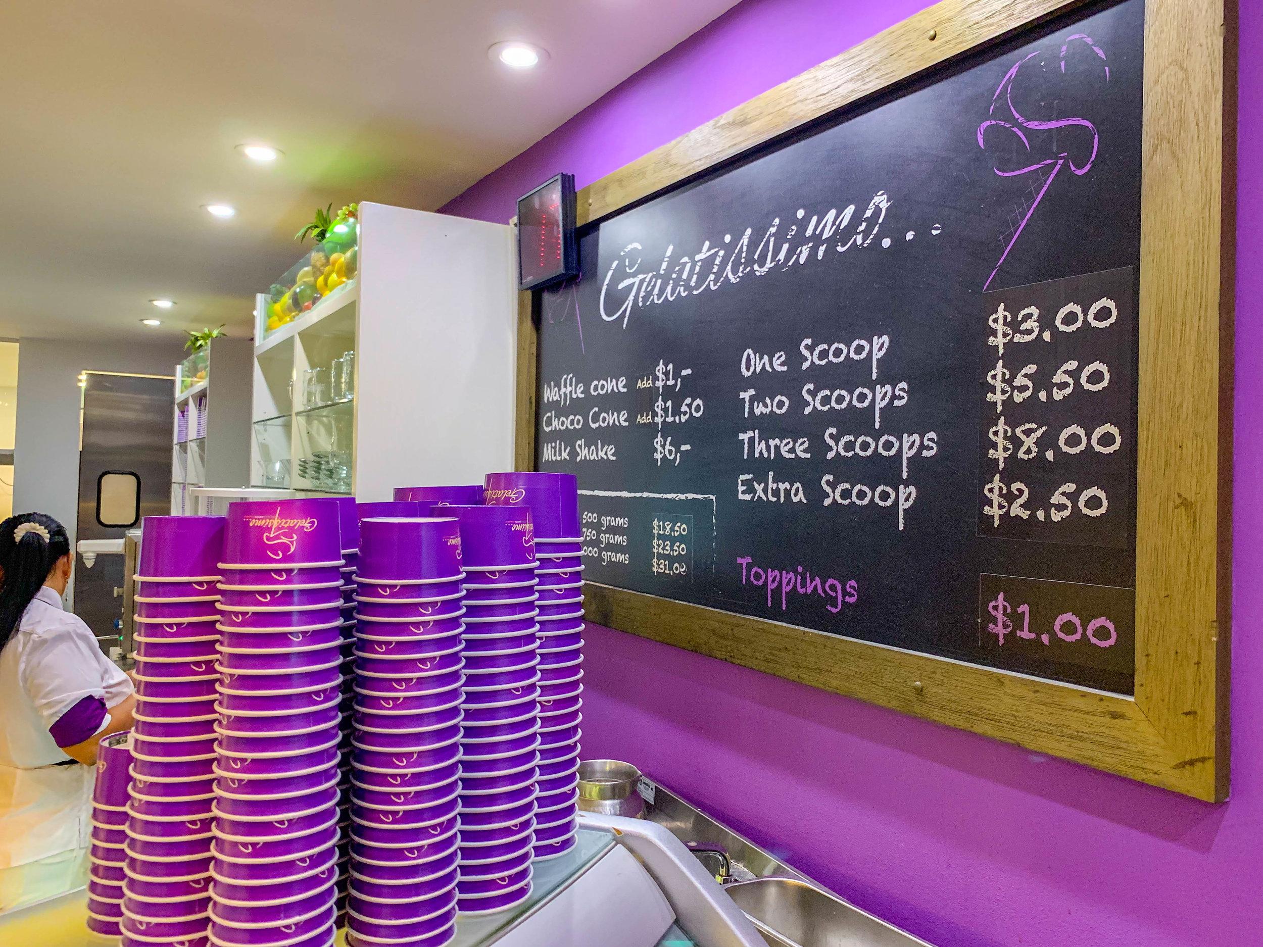 Gelatissimo Aruba Ice Cream
