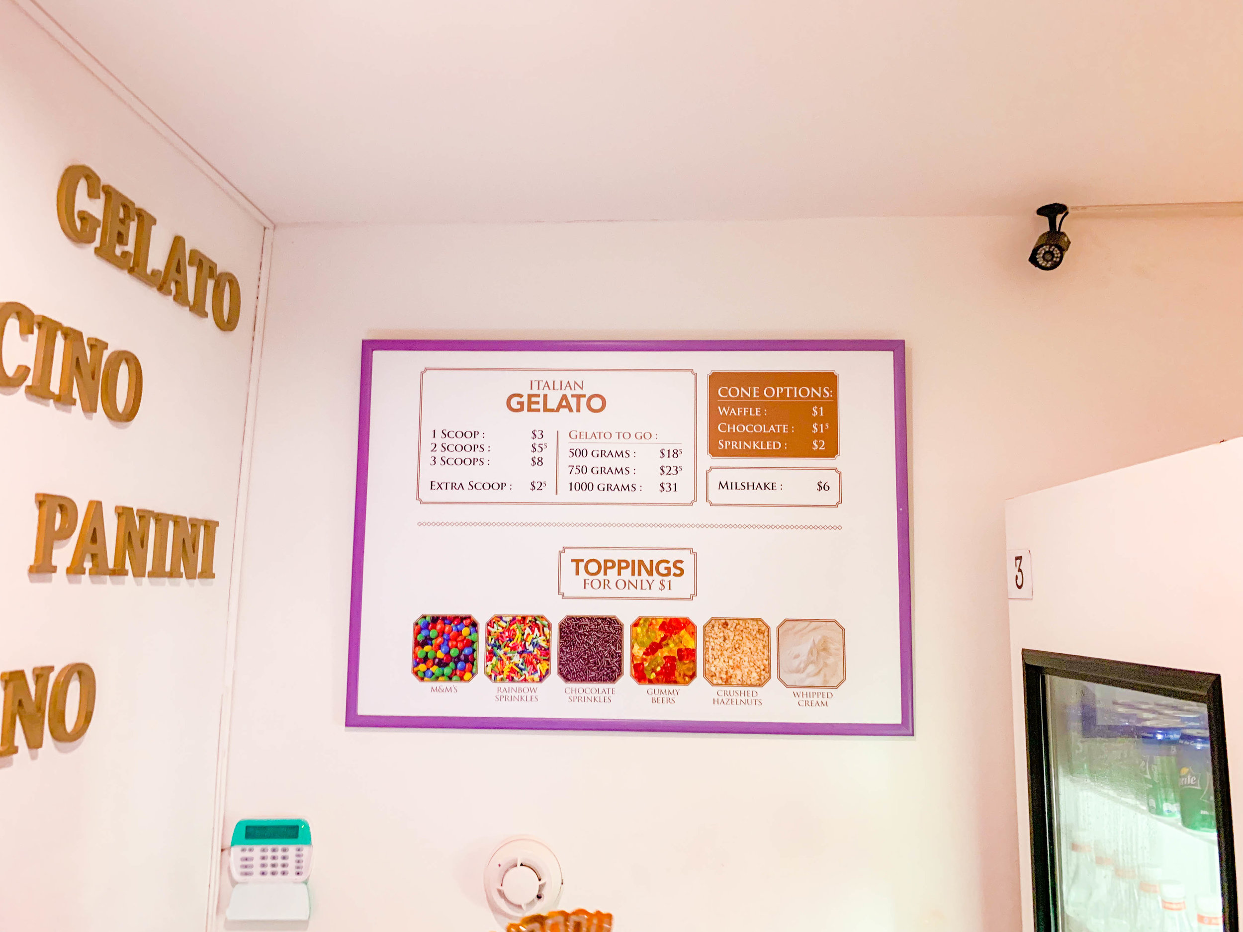 Gelatissimo Aruba Ice Cream - Gelato prices