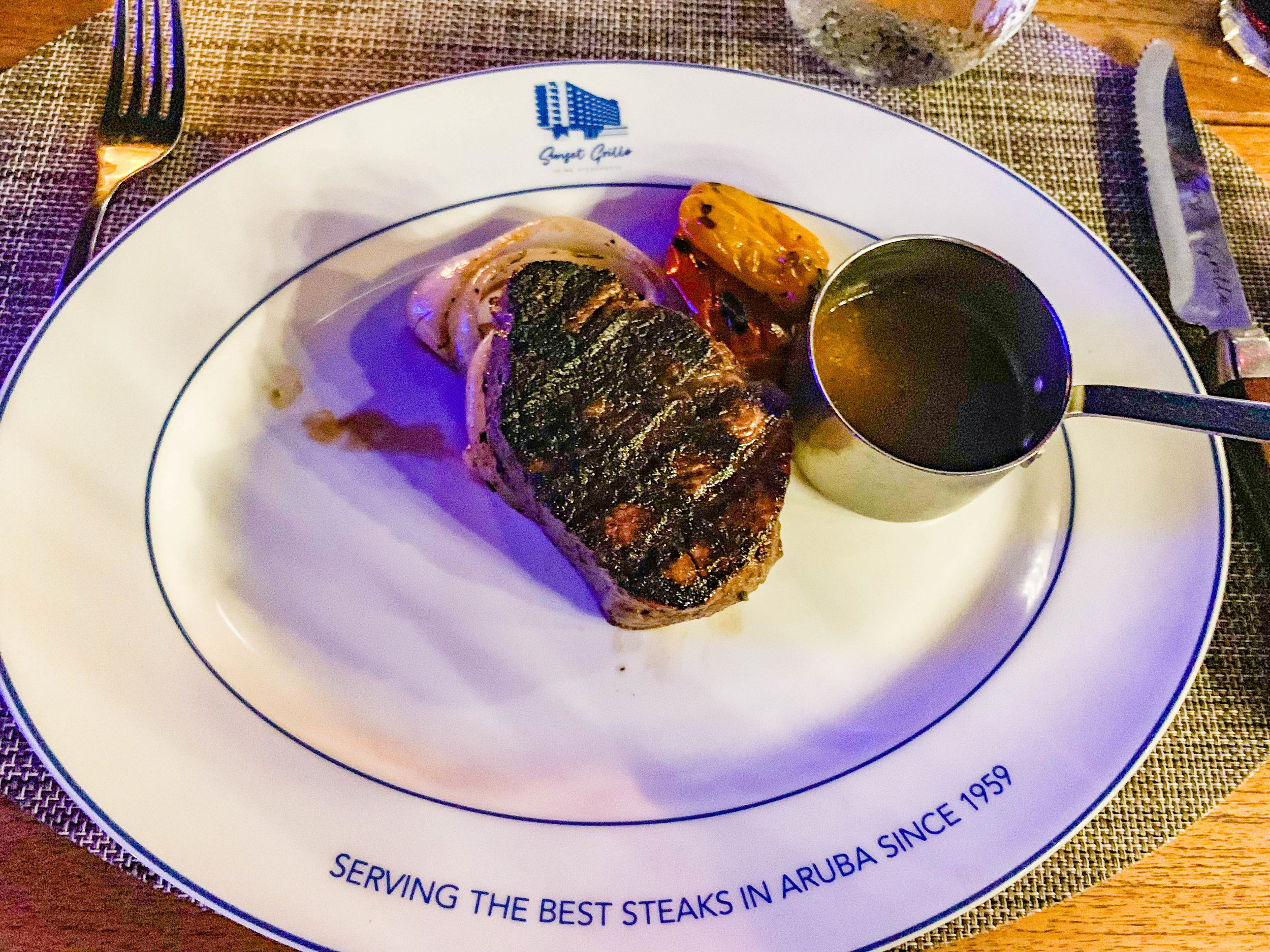 Sunset Grille Steak House Hilton Aruba