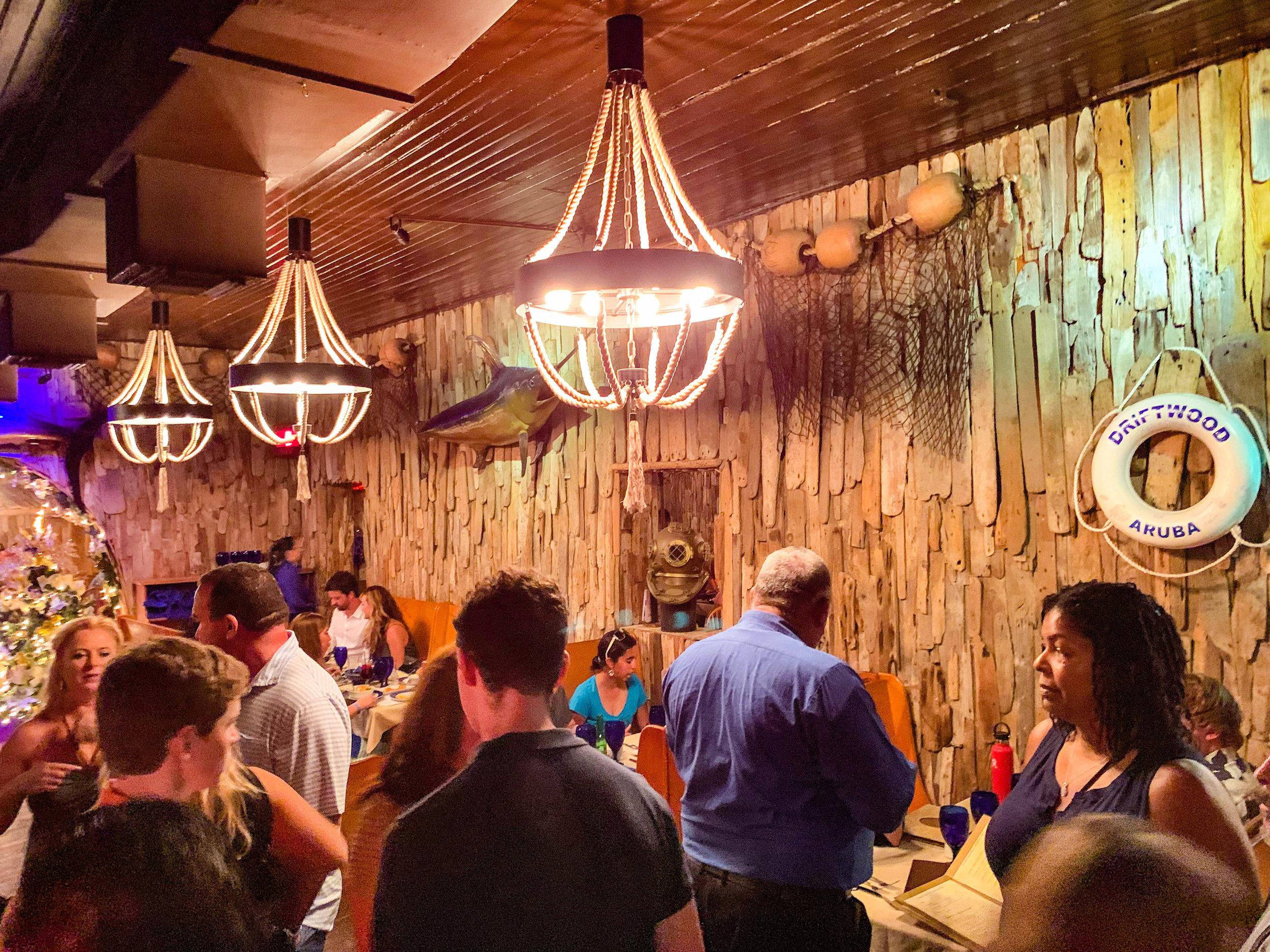 Driftwood Restaurant Decor Aruba Downtown