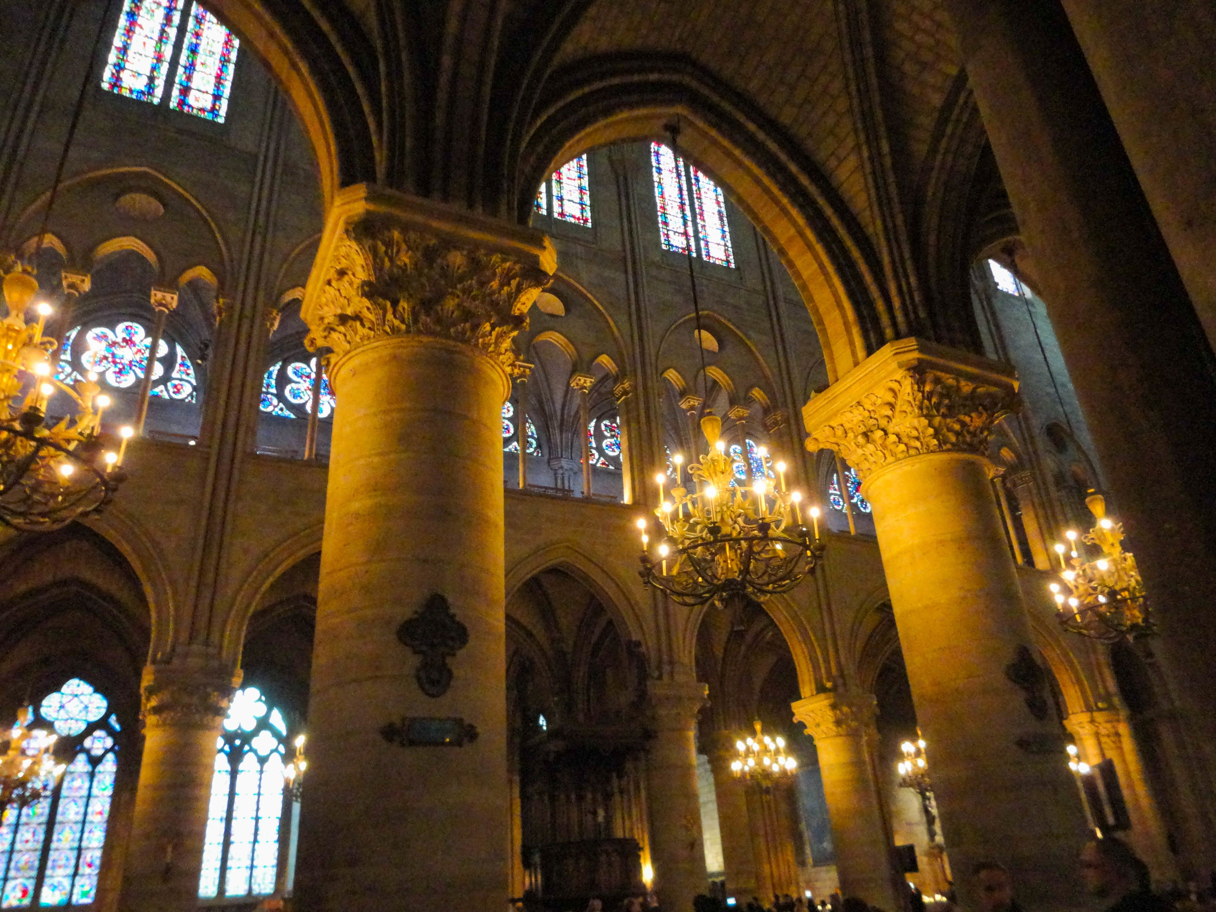 Notre Dame interior before the fire