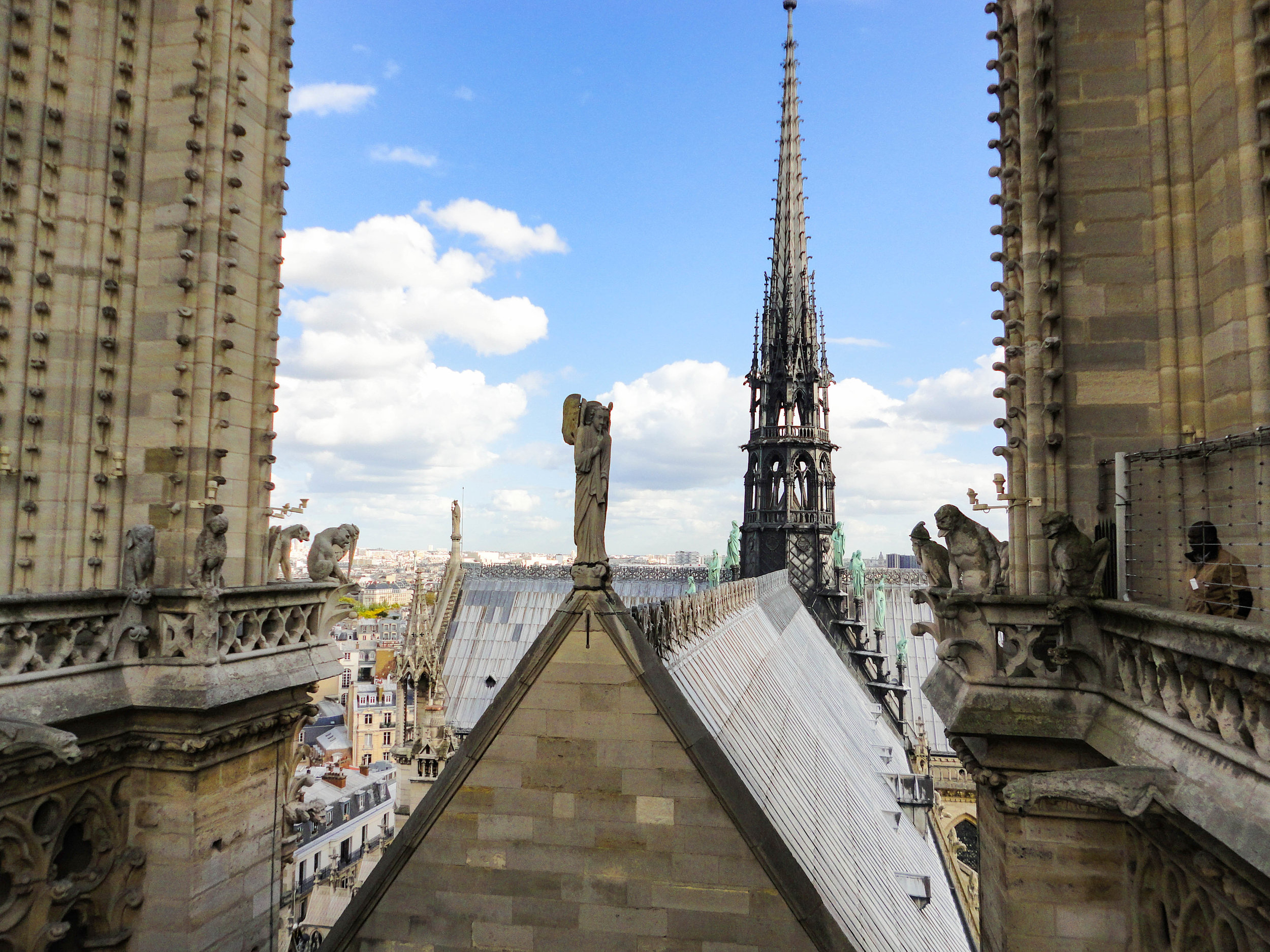 Notre Dame tower roof before the fire