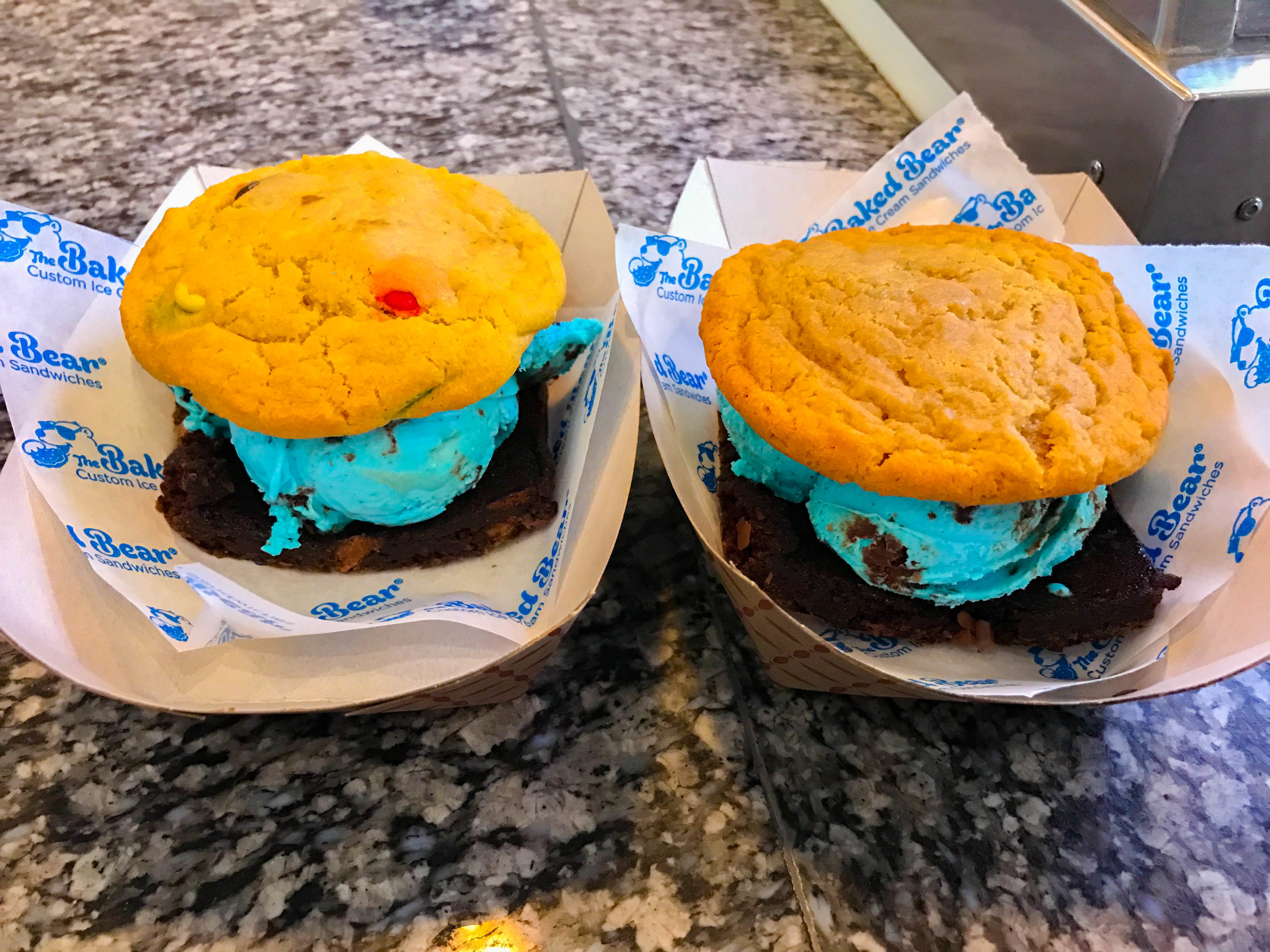 Ice Cream Sandwiches with blue cookie monster ice cream