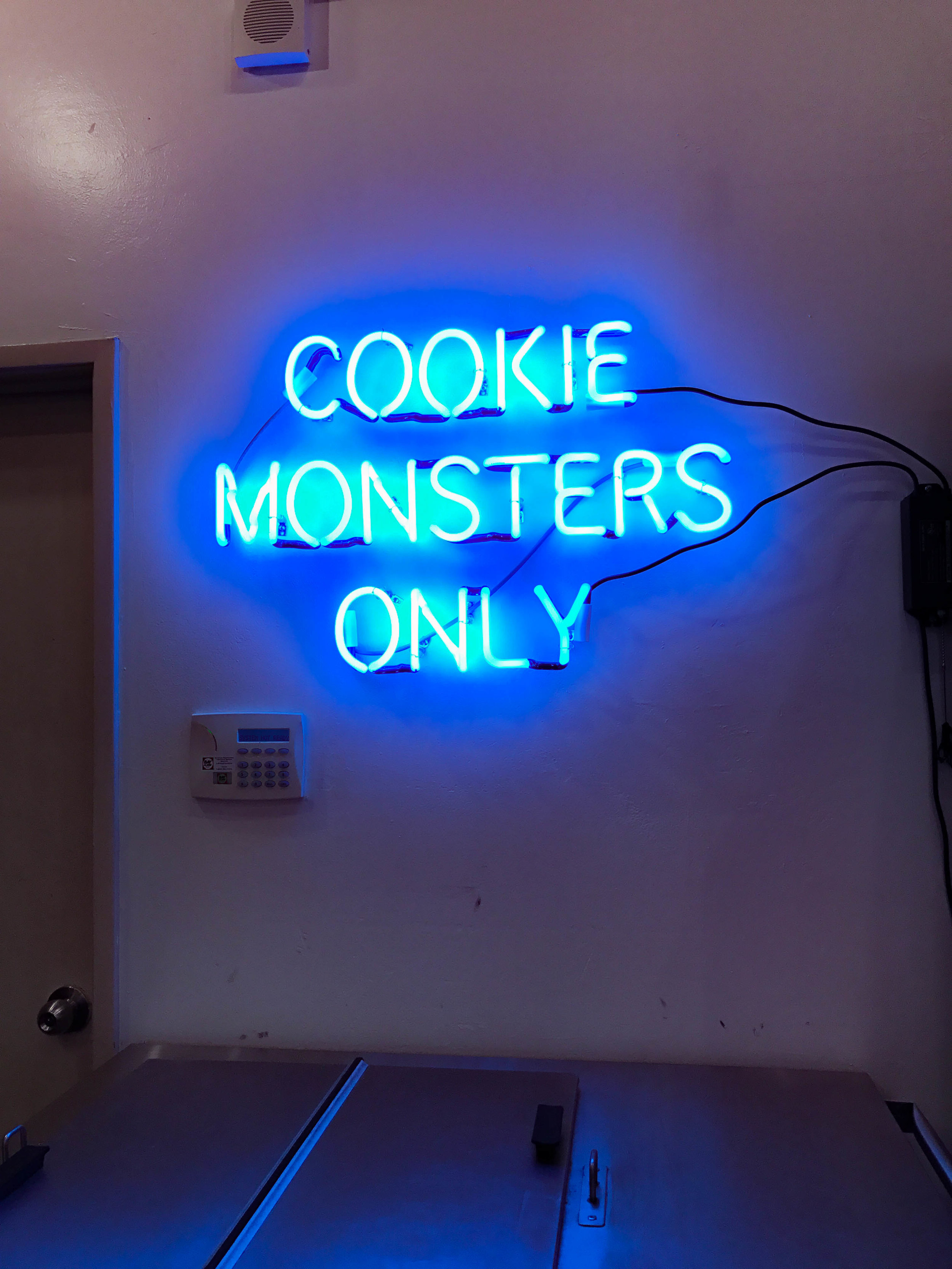Cookie Monsters only sign! So cute!