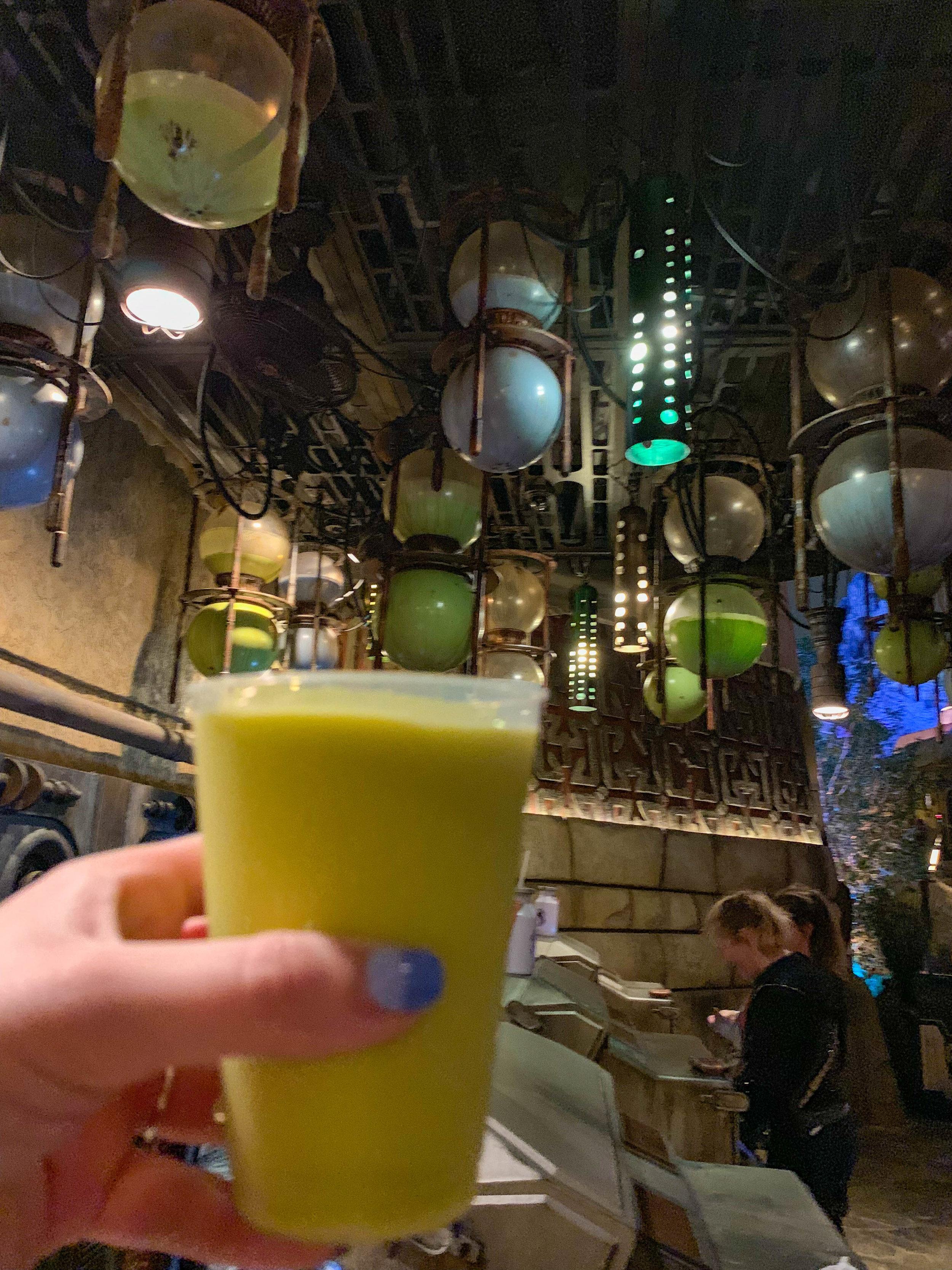 Star Wars Land - Galaxys Edge Disneyland green milk