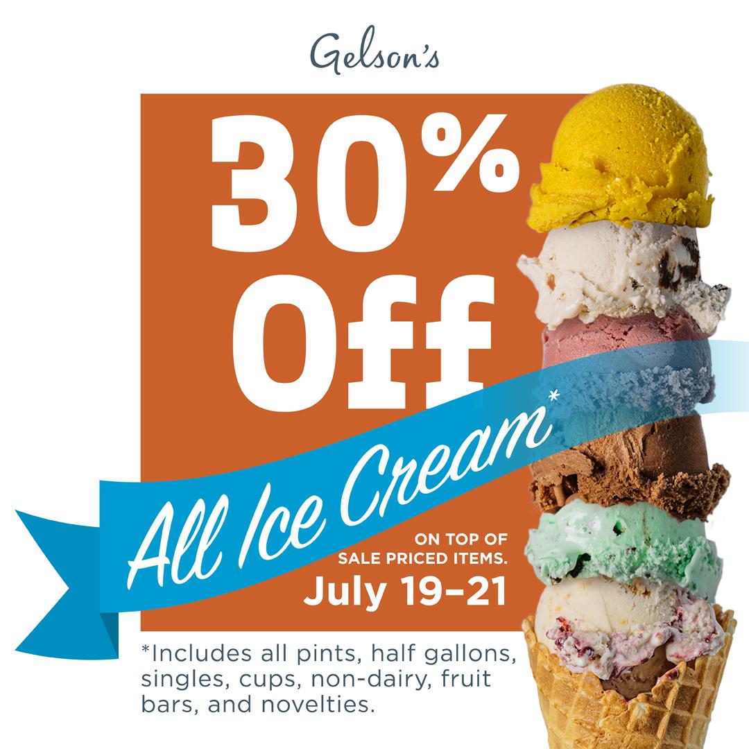 Gelson's Market Ice Cream Sale