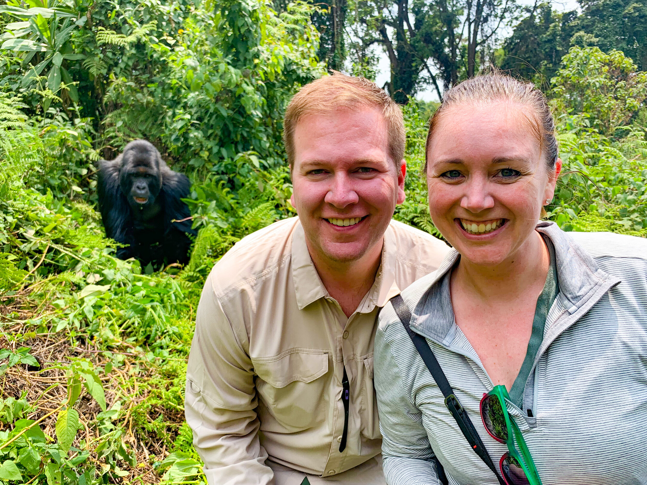 Picture with Titus the silverback gorilla