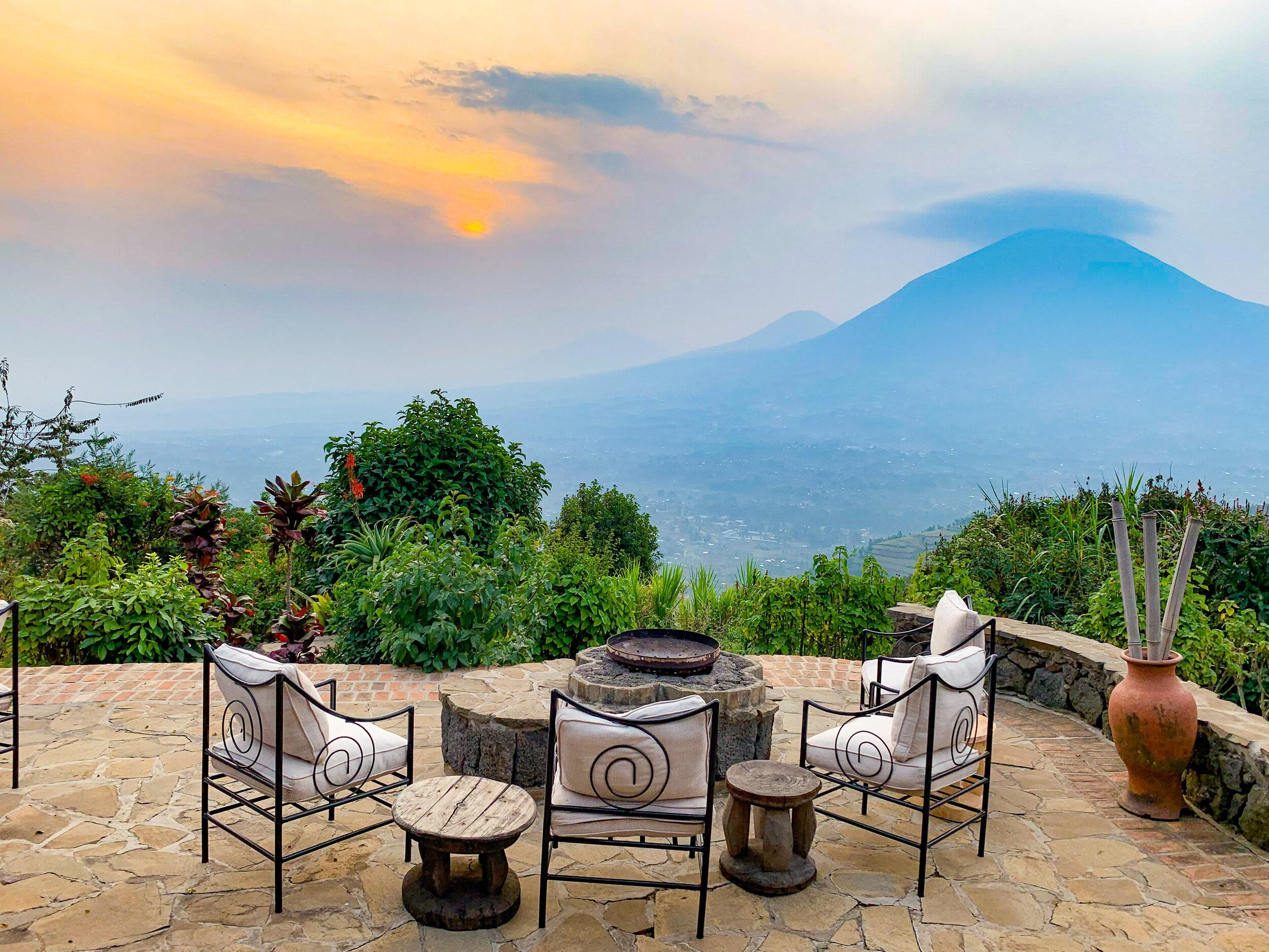Virunga Lodge views