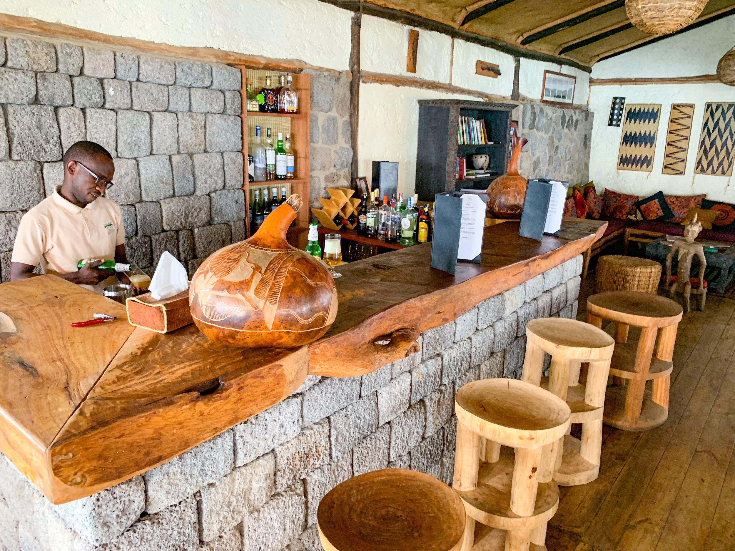 Virunga Lodge - main lodge Bar