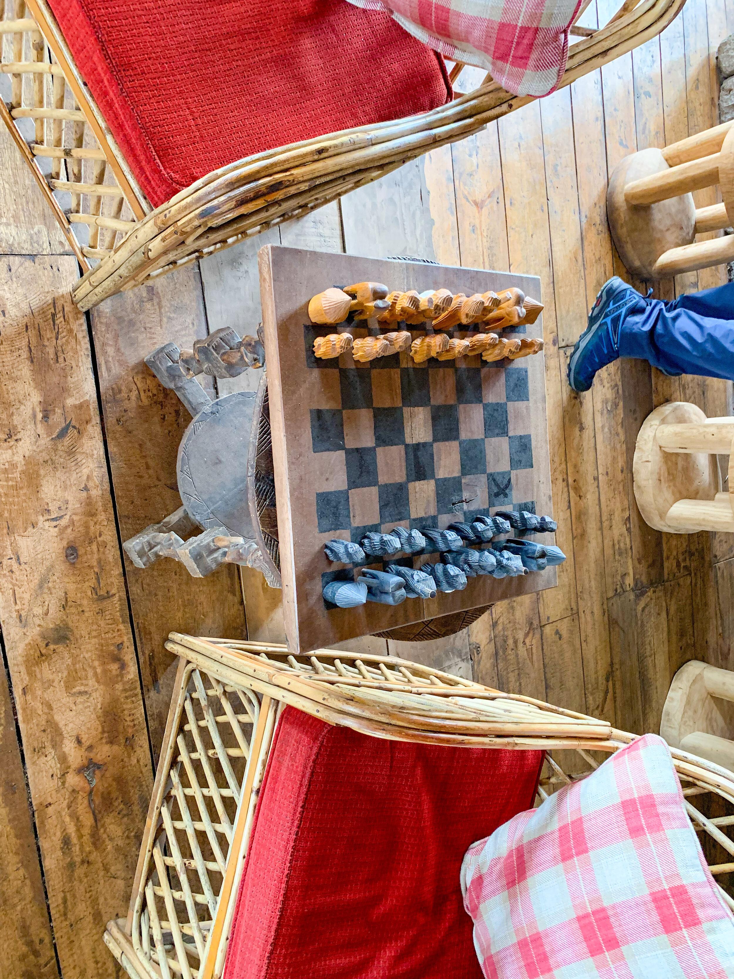 Virunga Lodge - main lodge Chess