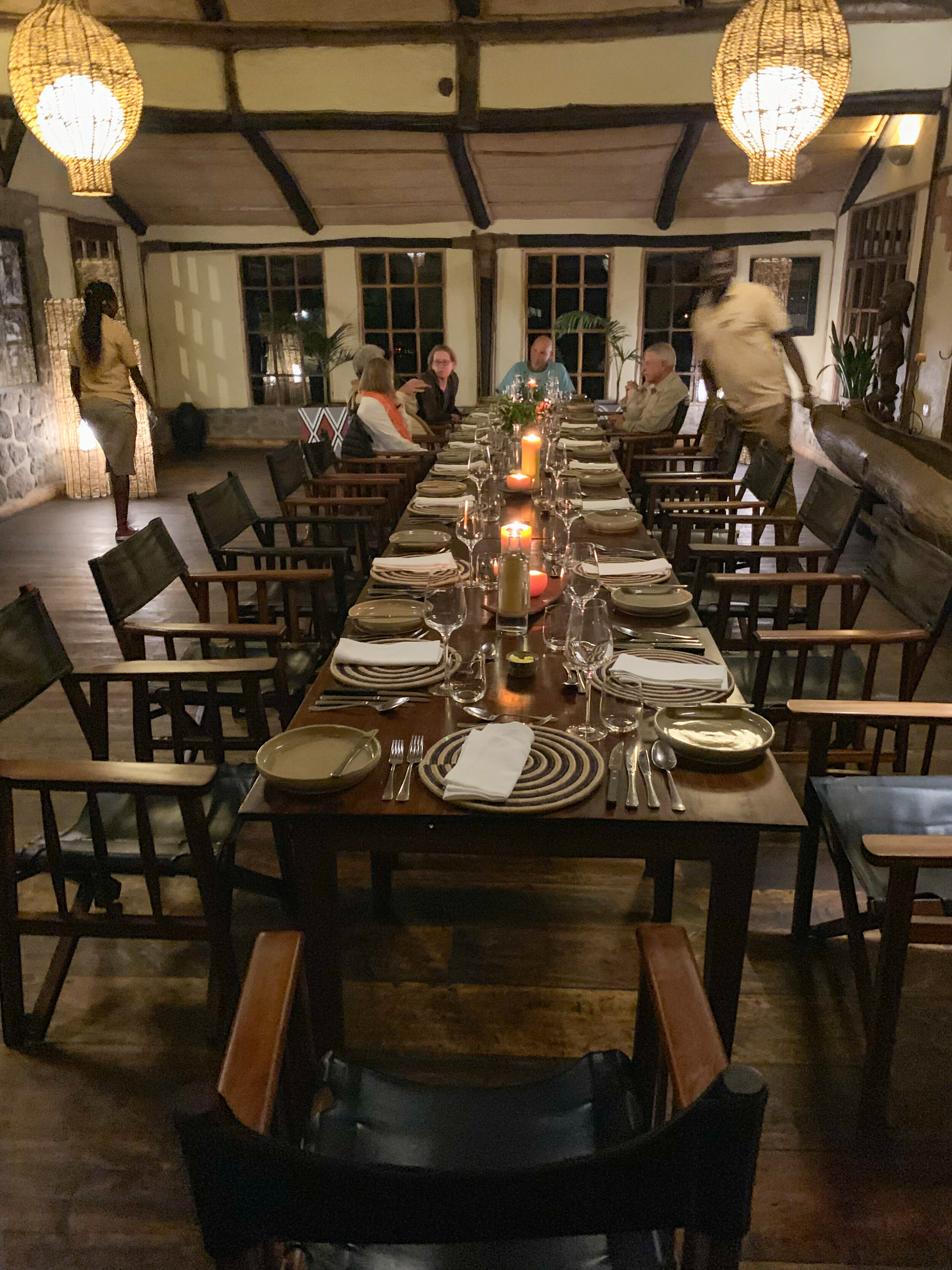 Dinner at Virunga Lodge