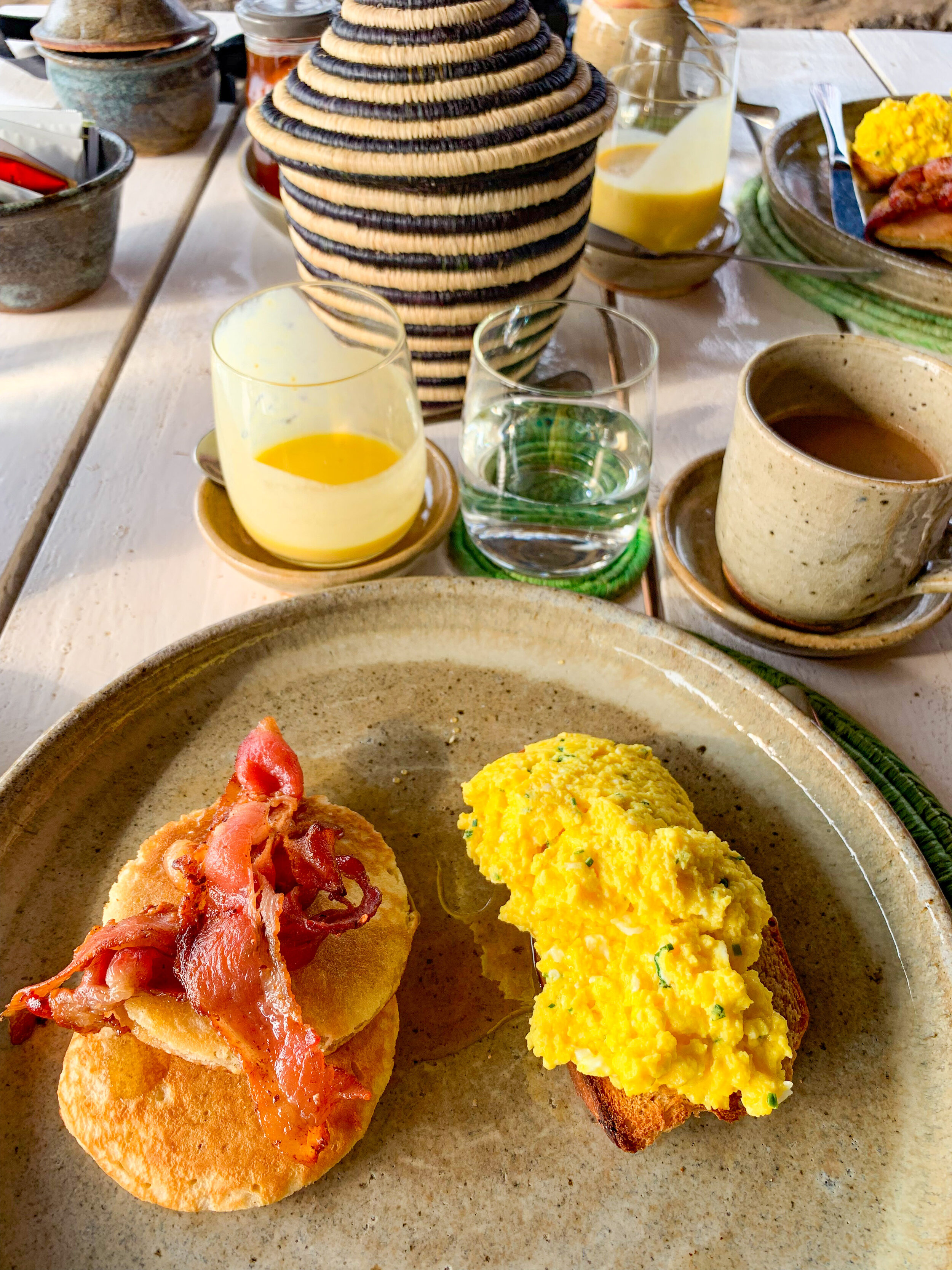 Breakfast at Virunga Lodge